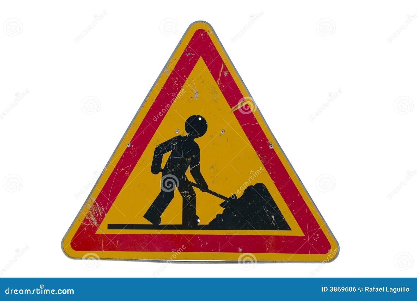 Signe de travaux de route