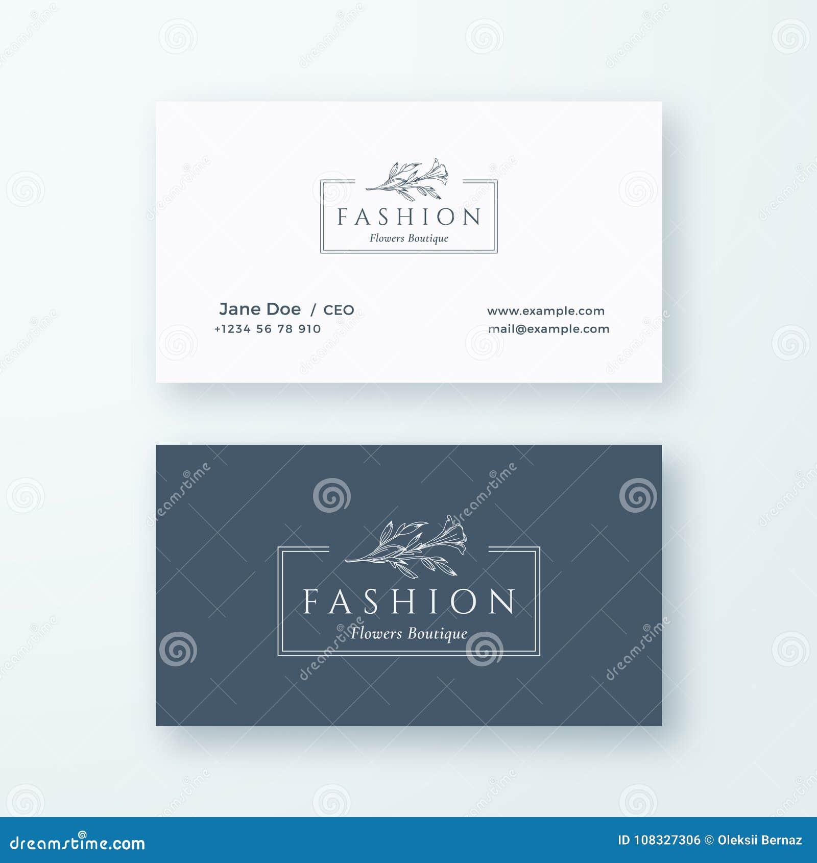 Signe De Vecteur Mode Ou Calibre Abstraits Carte Visite Professionnelle Logo Et