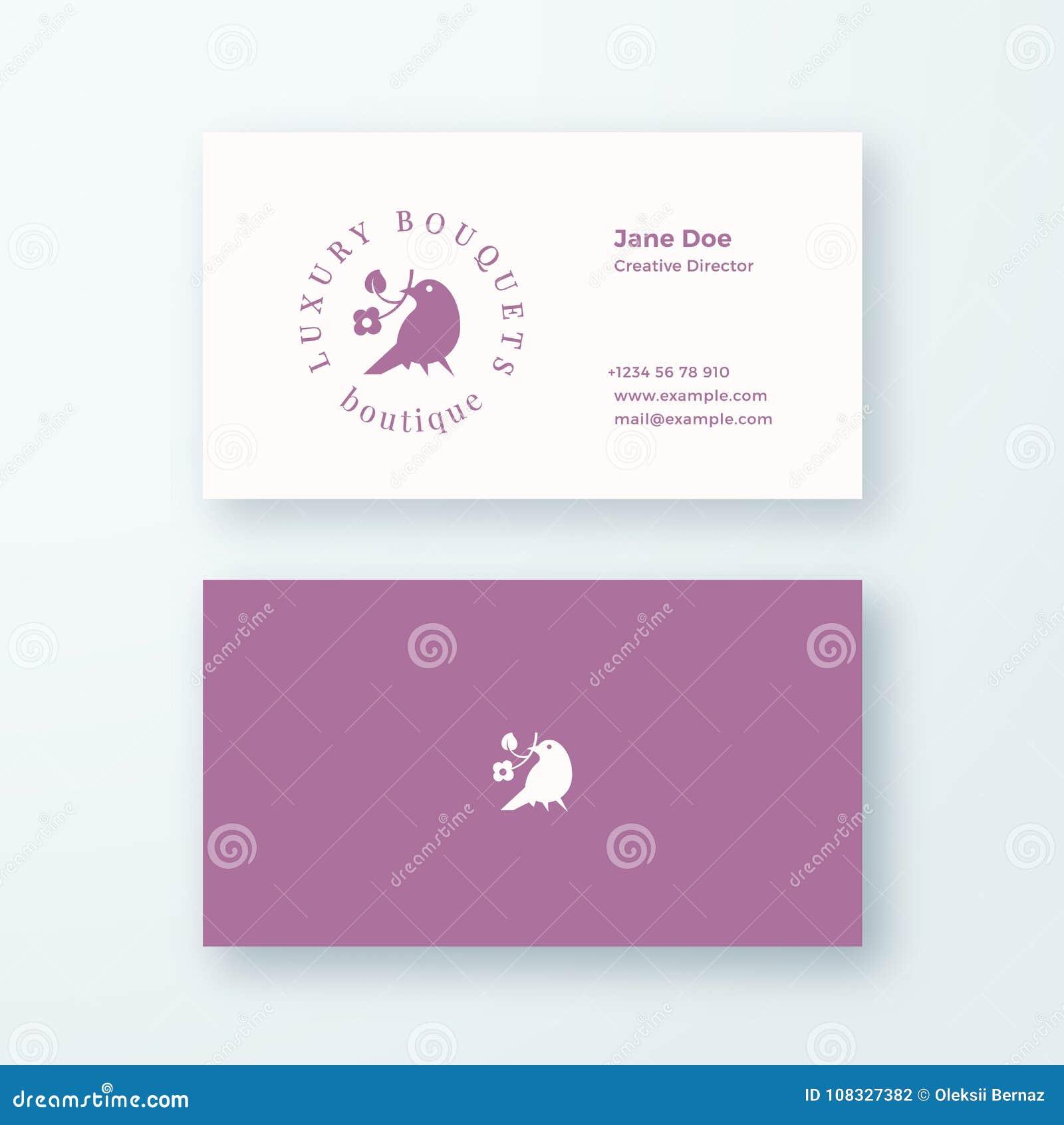 Signe De Vecteur Ou Calibre Feminins Abstraits Carte Visite Professionnelle Logo Et Moquerie Realiste Stationnaire La Meilleure