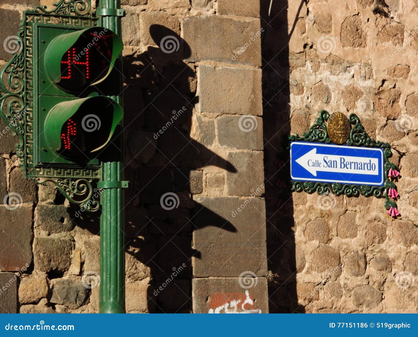 Signe dedans Cusco, Pérou