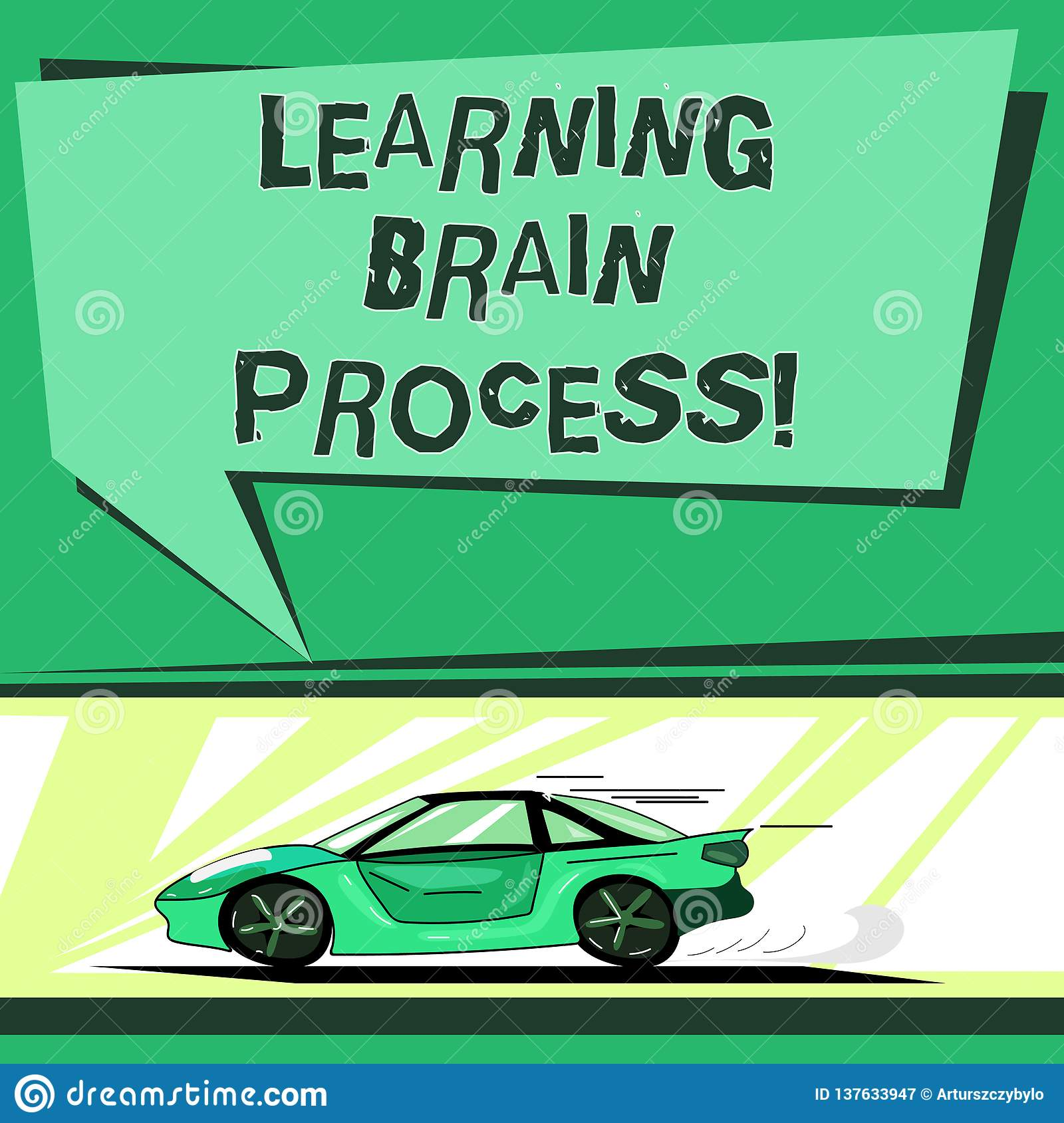 Signe des textes montrant apprenant Brain Process Photo conceptuelle acquérant la nouvelle ou modifiante voiture existante de la