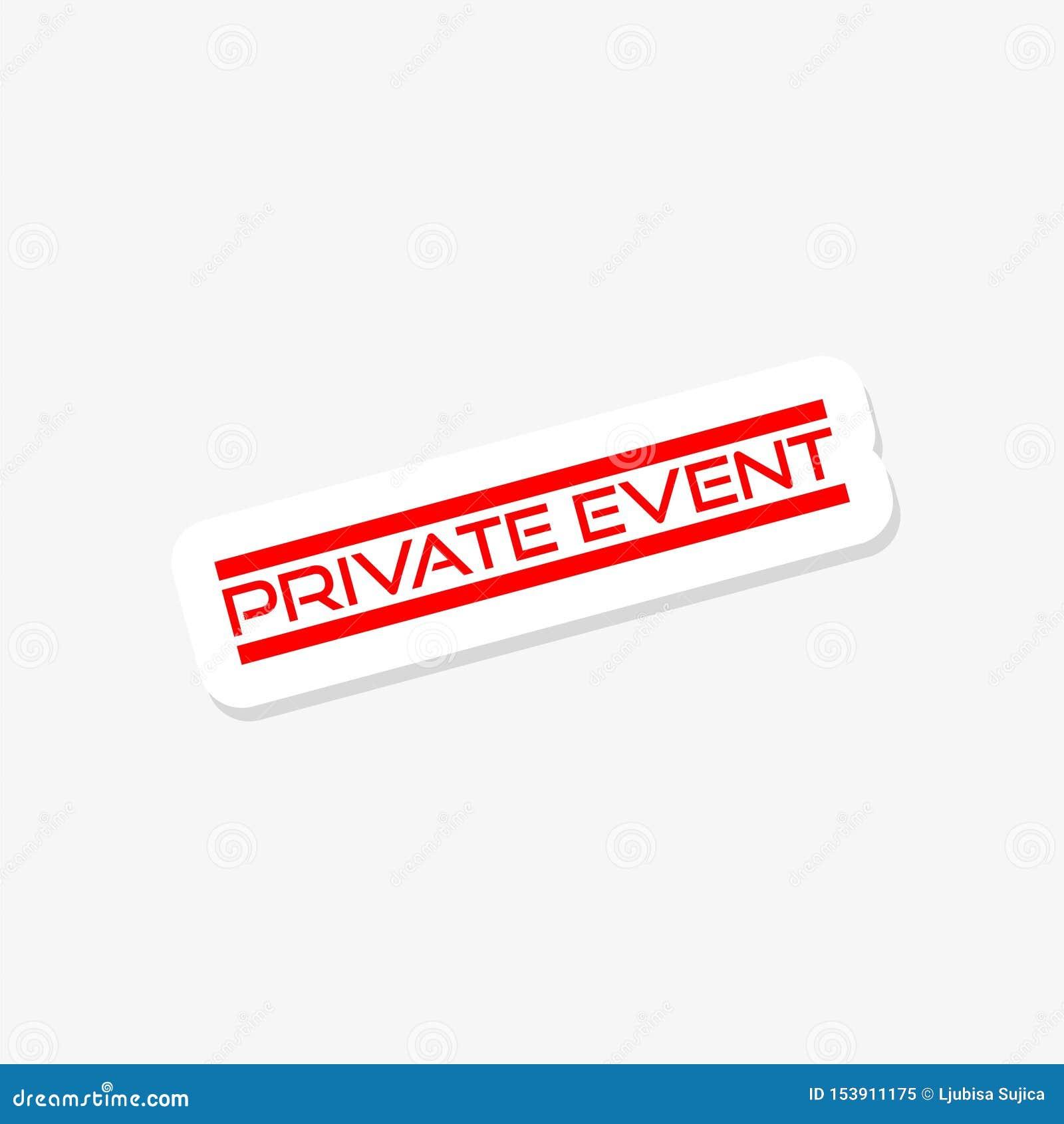 Signe des textes montrant l autocollant privé d événement
