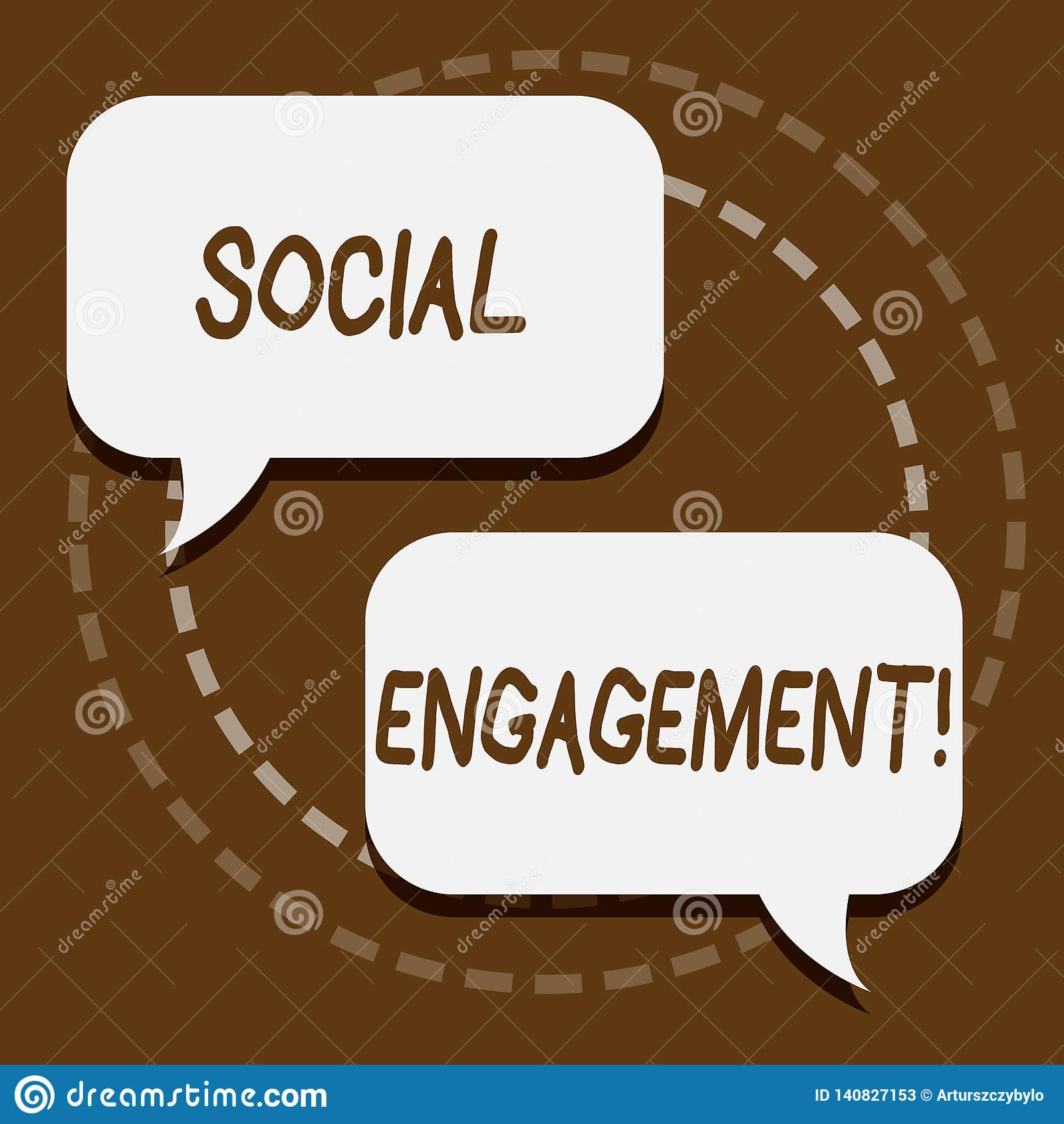 Signe des textes montrant l engagement social Le courrier conceptuel de photo obtient de hautes annonces SEO Advertising Marketin