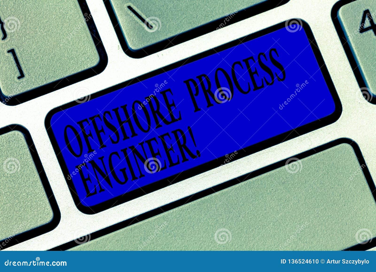 Signe des textes montrant l ingénieur des méthodes en mer Photo conceptuelle responsable de la clé de pétrole et de clavier de pr