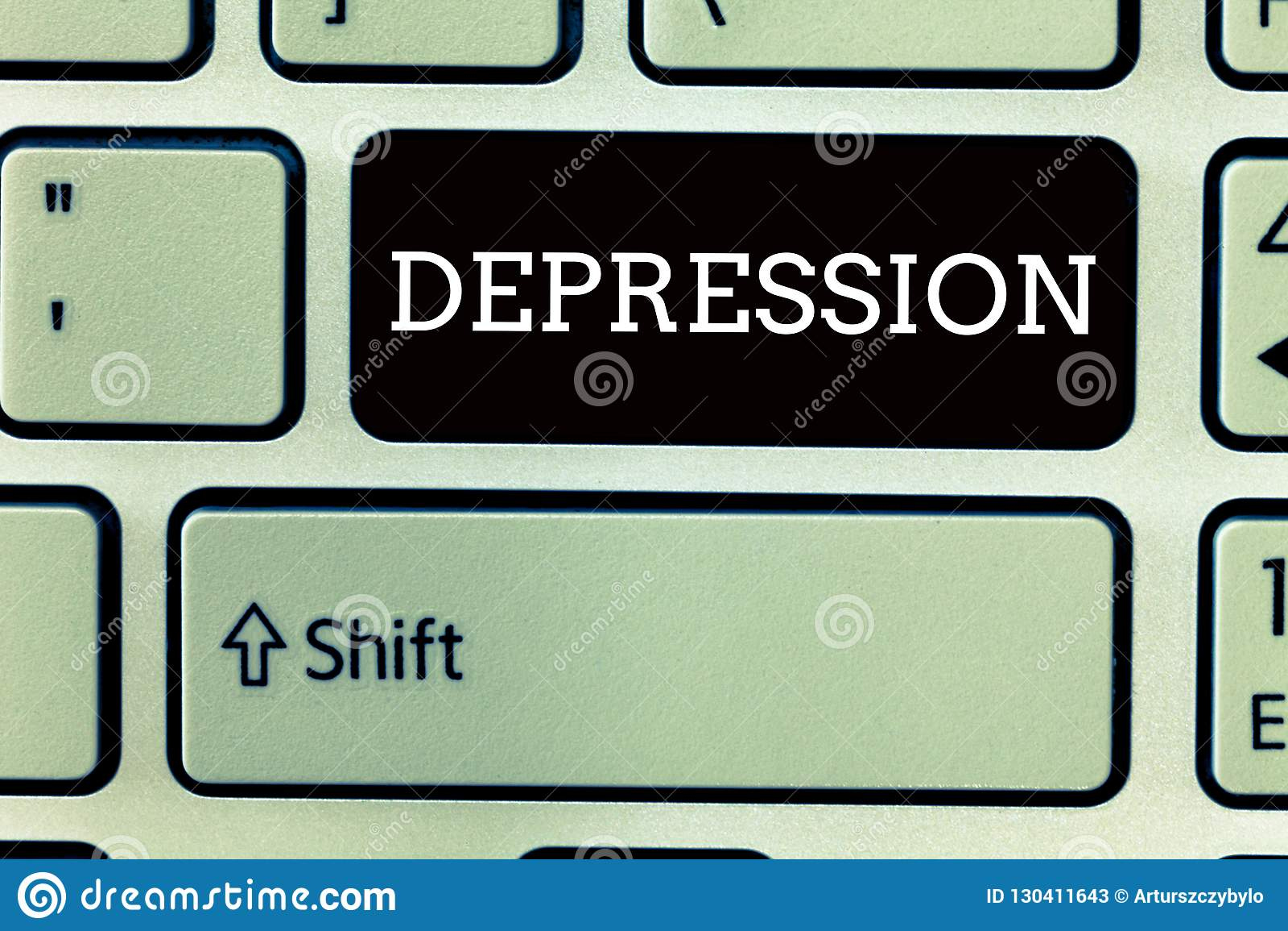 Signe des textes montrant la dépression Sentiments conceptuels de photo des troubles affectifs graves de découragement et de déco