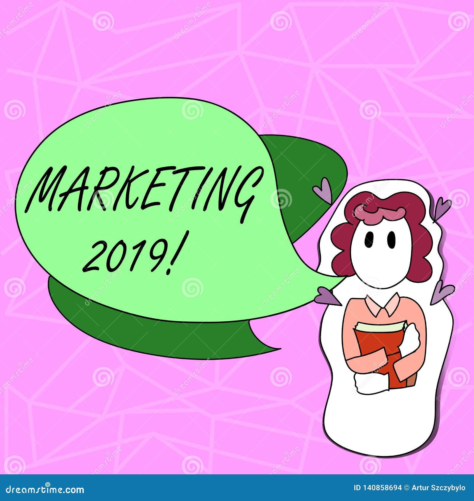Signe des textes montrant le marketing 2019 Nouveau début conceptuel de stratégies du marché de nouvelle année de photo annonçant