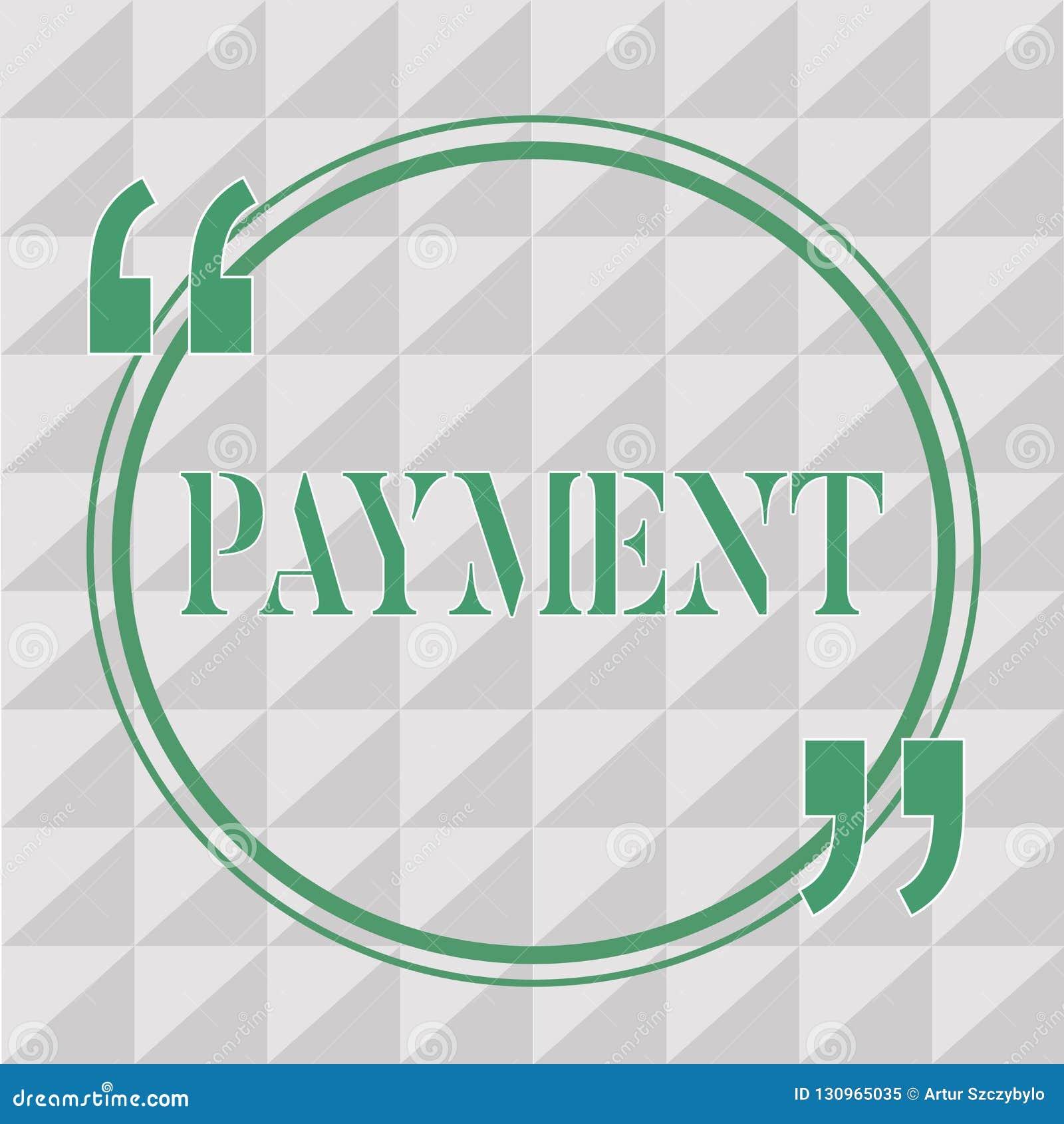 Signe des textes montrant le paiement Le processus conceptuel de photo de payer quelqu un ou quelque chose donnent l achat de fin