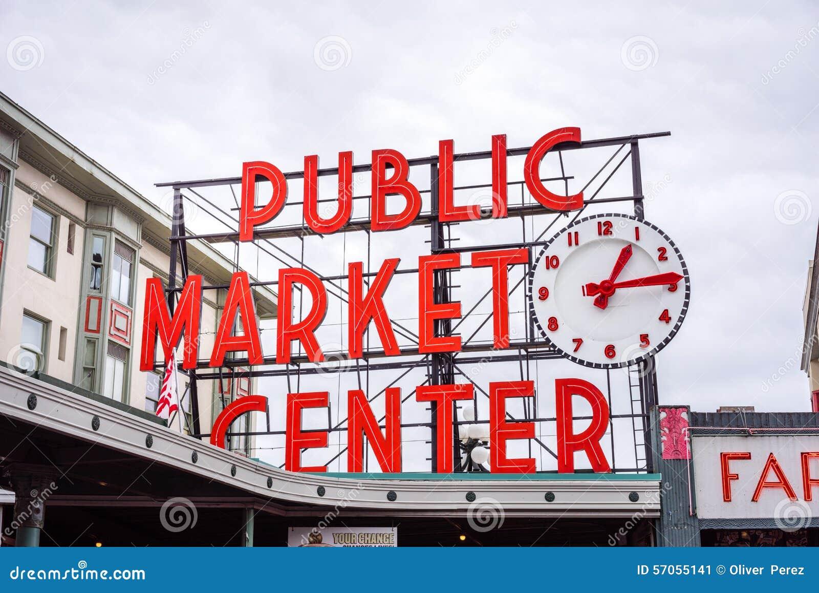 Signe du marché de place de Pike