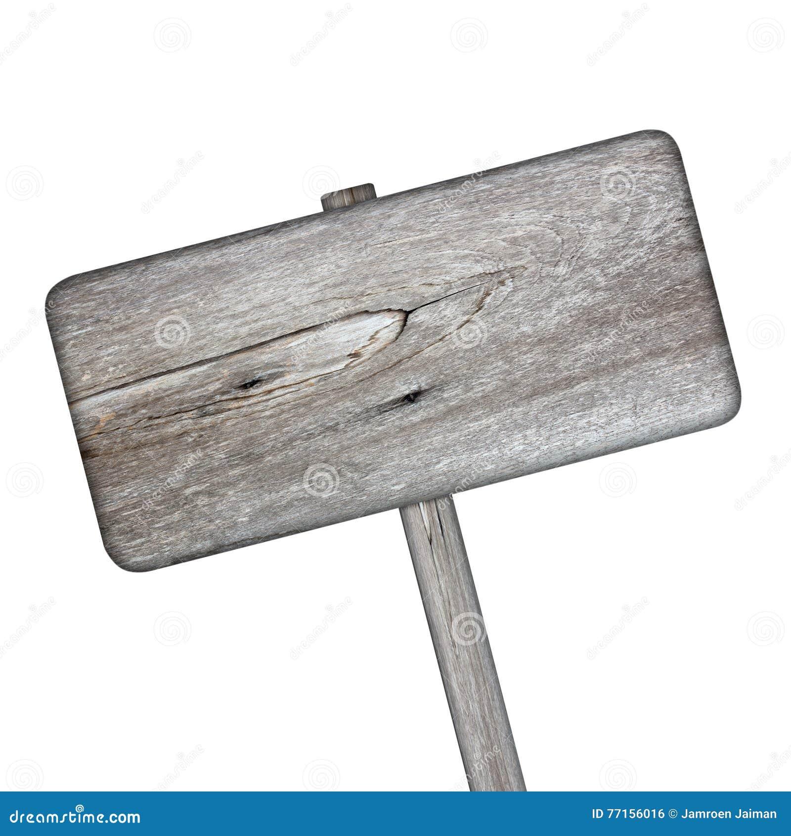 Signe en bois d isolement sur le blanc