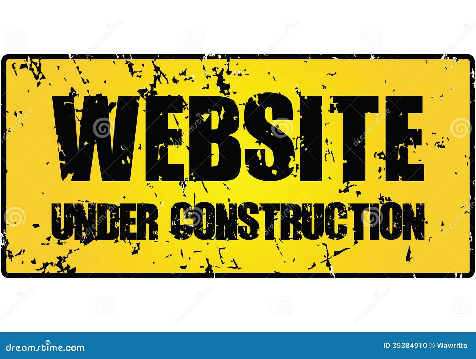 Signe En Construction De Site Web Illustration De Vecteur