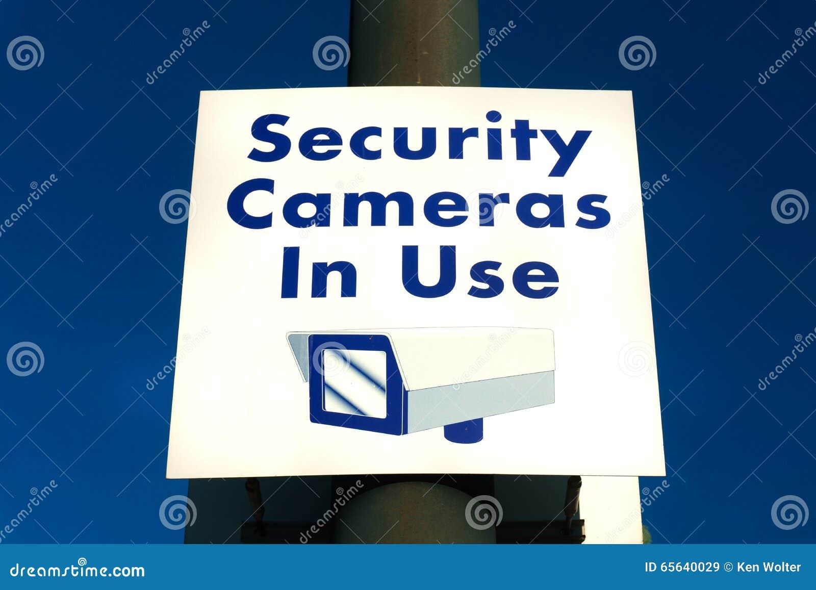 Signe en service de caméras de sécurité