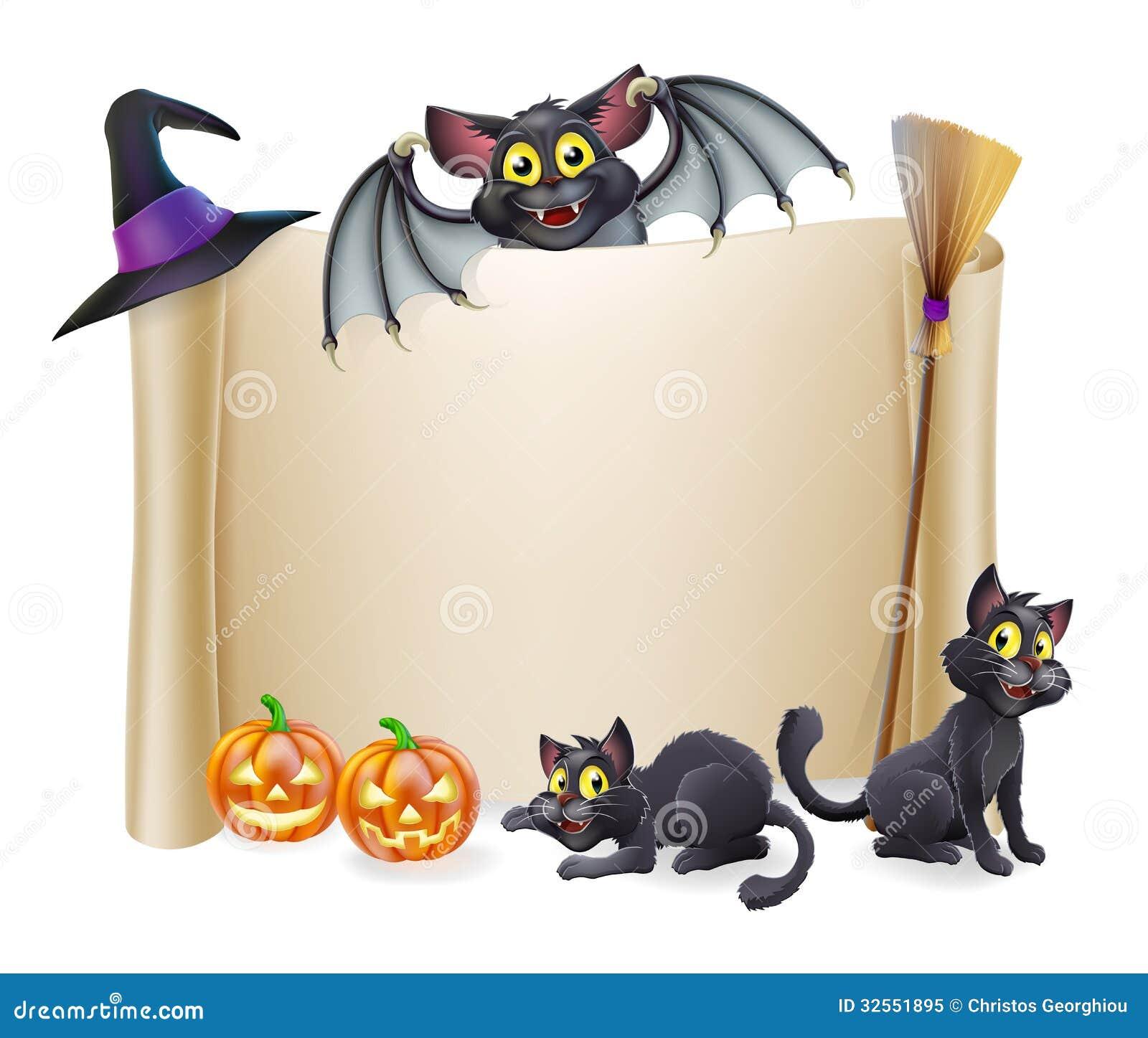 Signe et batte de rouleau de Halloween