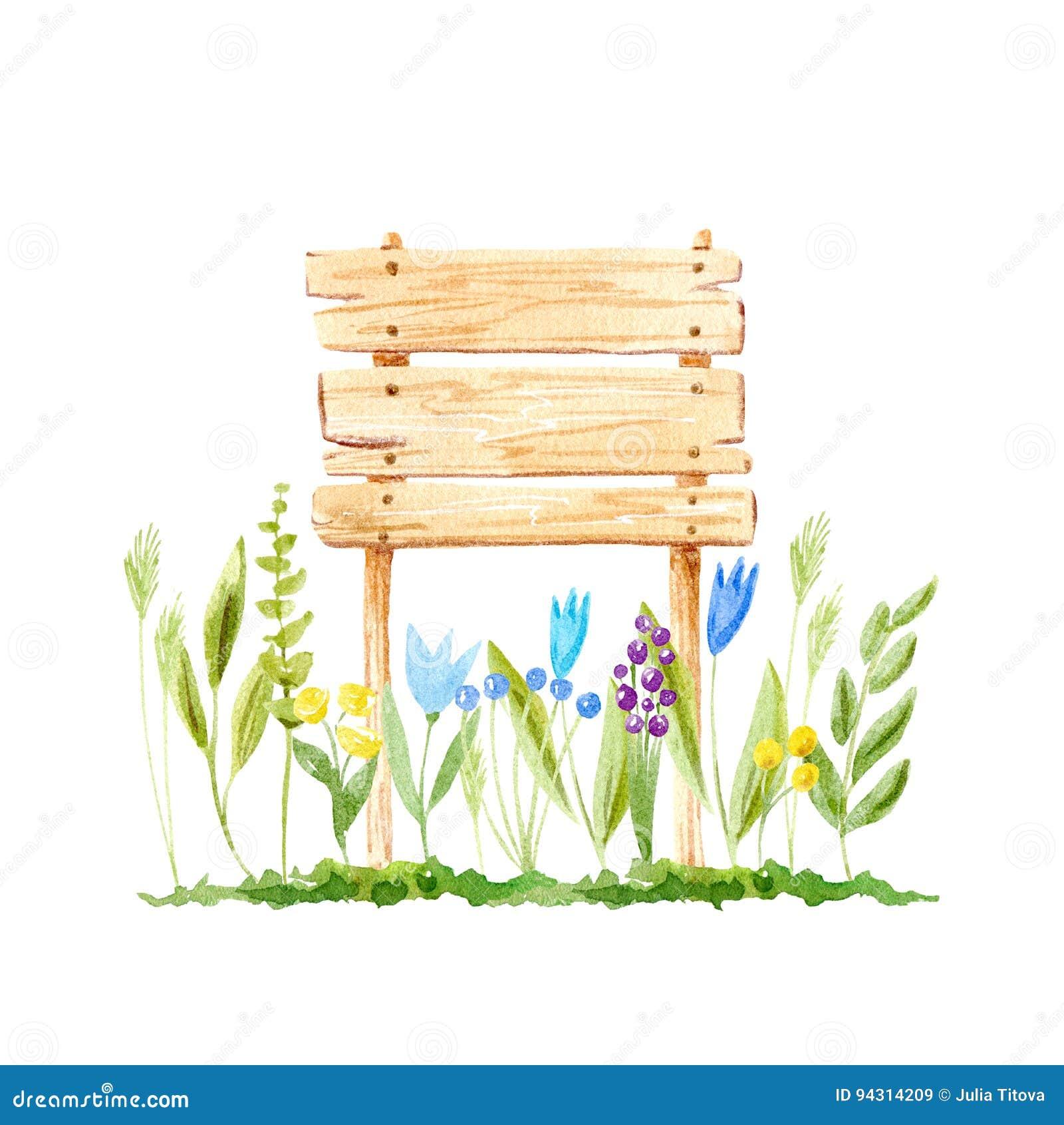 Signe Et Fleur En Bois Arbre En Coupe Illustration Stock - Illustration du matériau, créateur ...