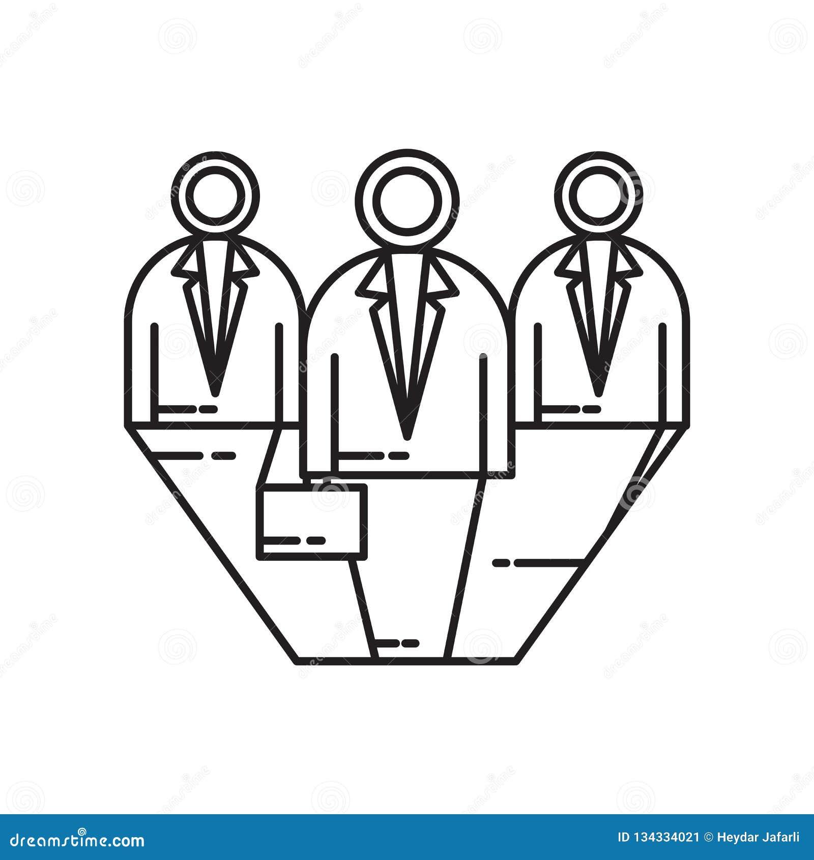 Signe et symbole de vecteur d icône de candidats d isolement sur le fond blanc, concept de logo de candidats