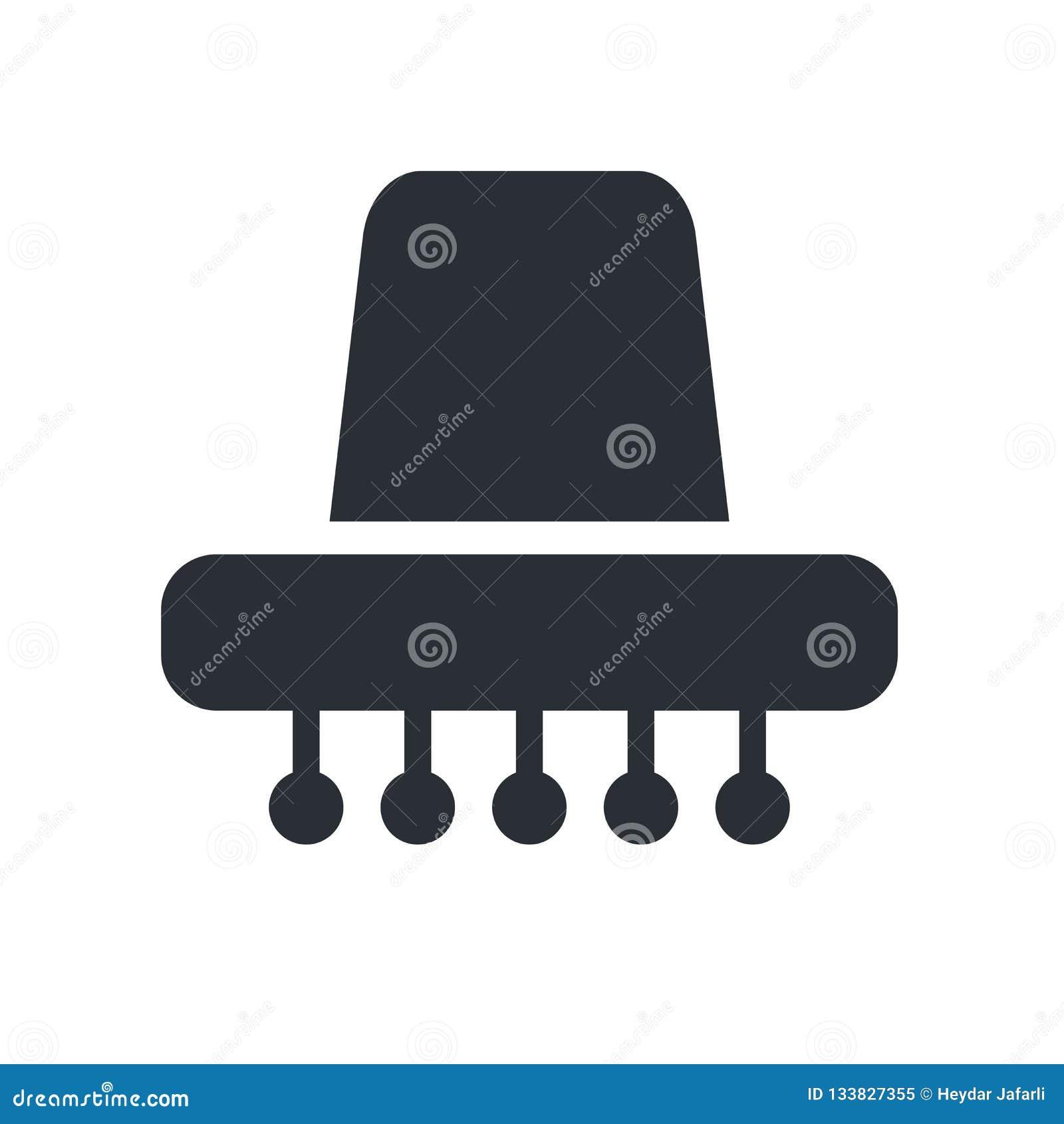 Signe et symbole de vecteur d icône de chapeau mexicain d isolement sur le backgr blanc