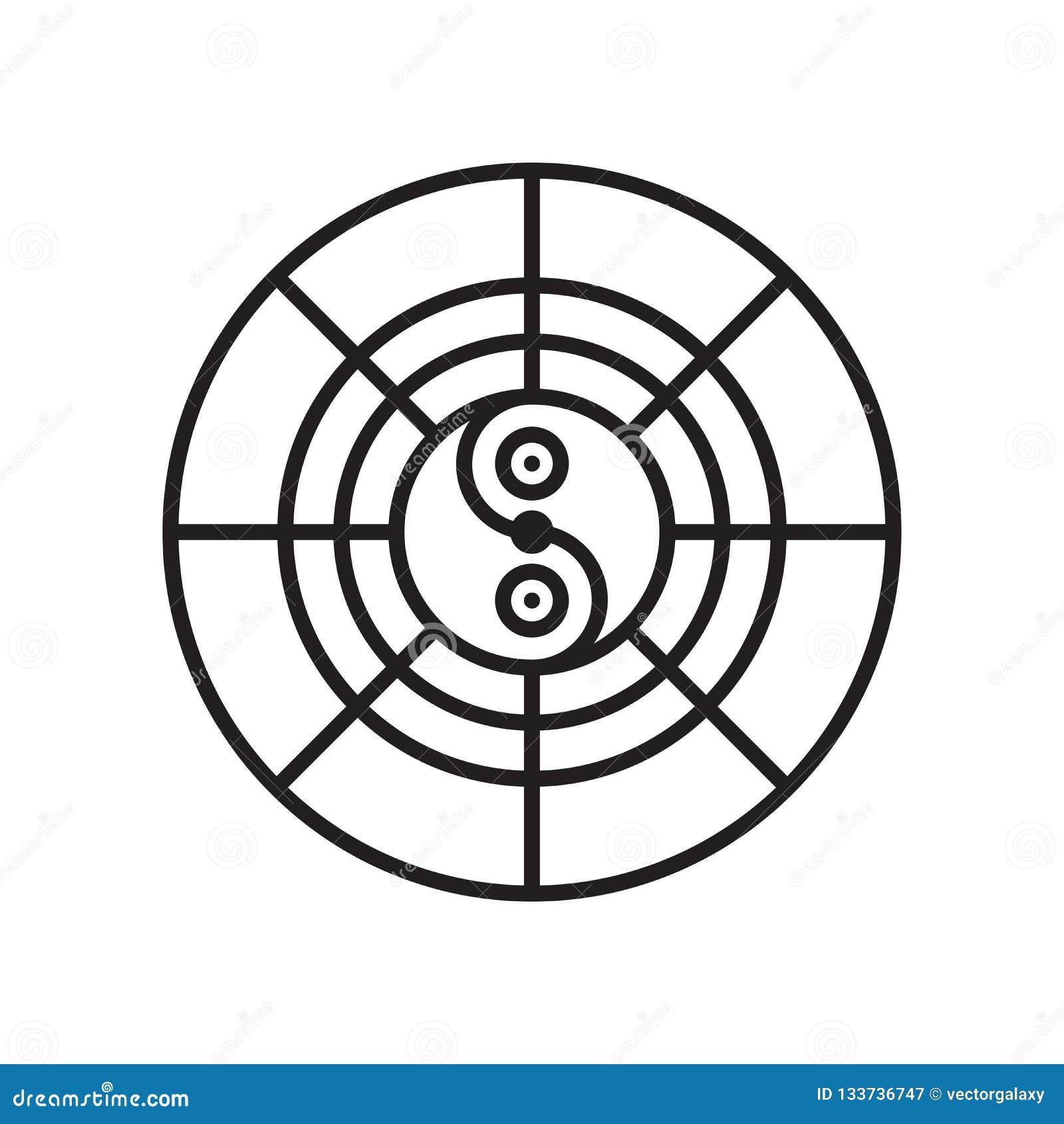 Signe et symbole de vecteur d icône d horoscope d isolement sur le backgrou blanc