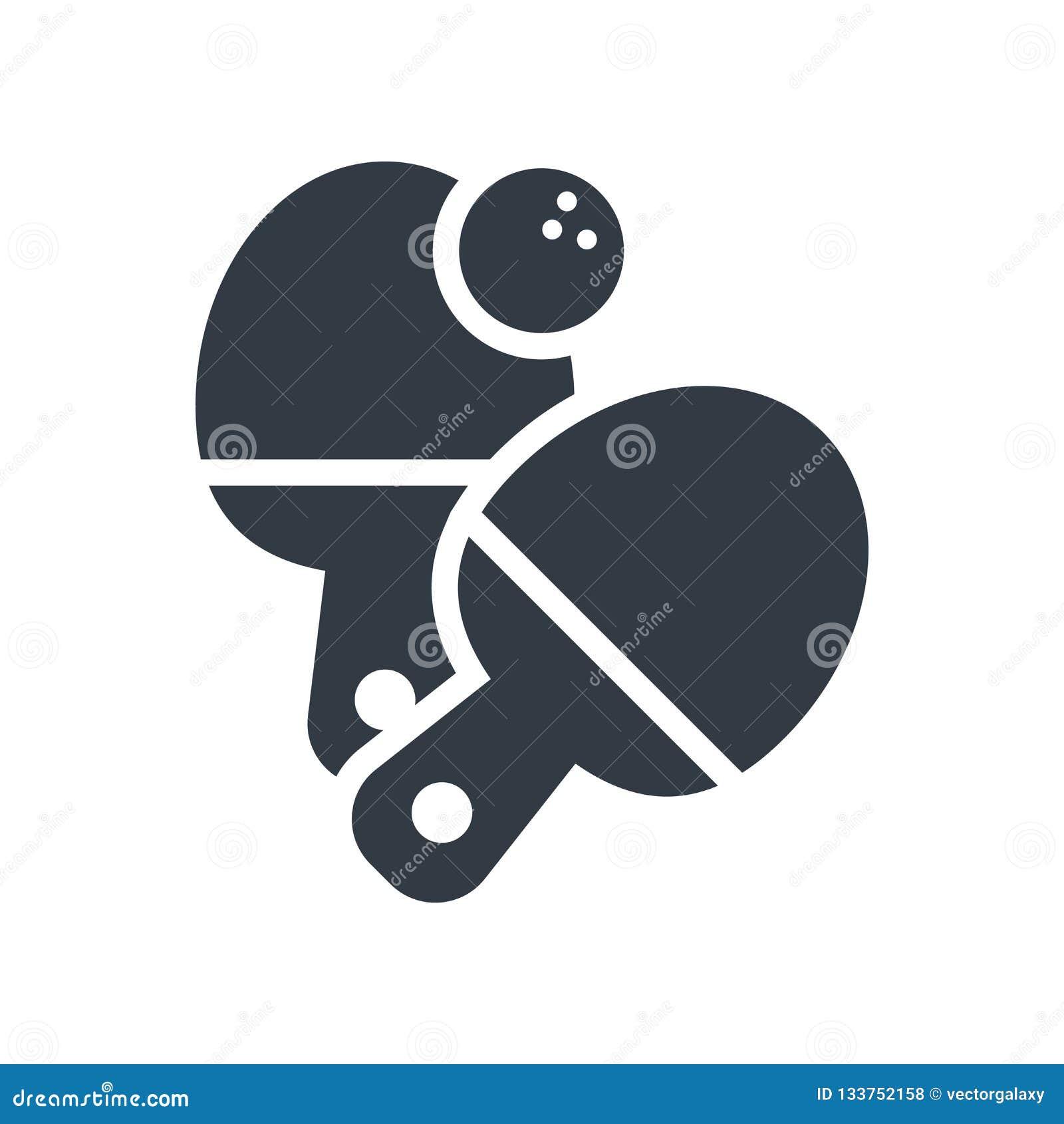 Signe et symbole de vecteur d icône de ping-pong d isolement sur le backg blanc