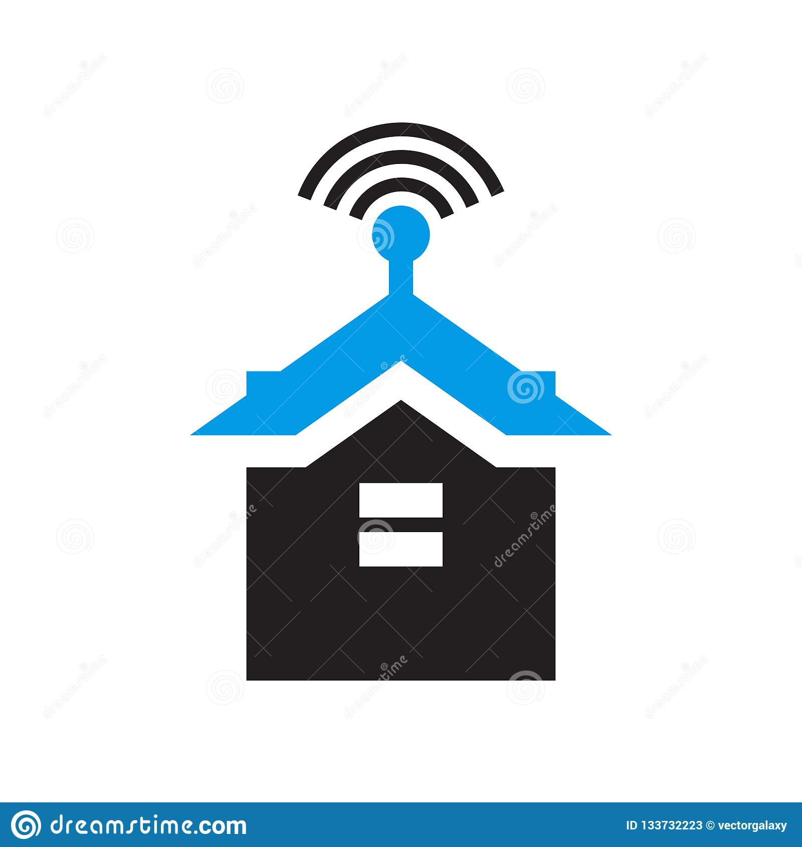 Signe et symbole de vecteur d icône de Smarthome d isolement sur le fond blanc, concept de logo de Smarthome