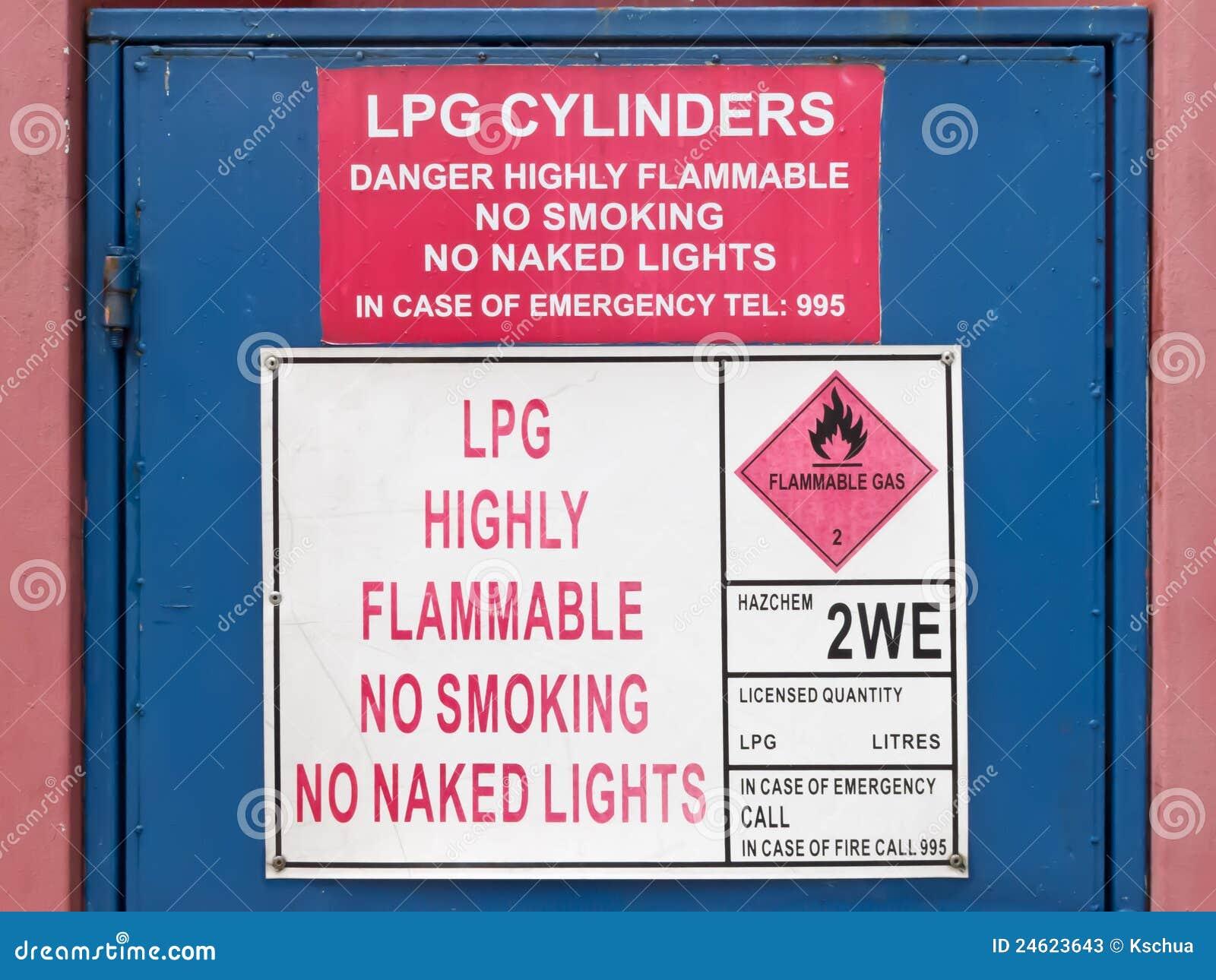 Signe fortement inflammable de LPG
