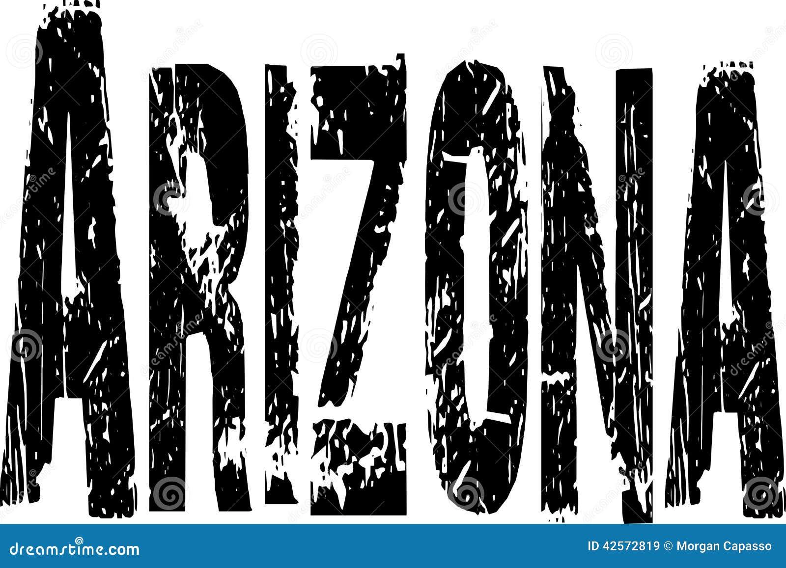 Signe grunge de l Arizona