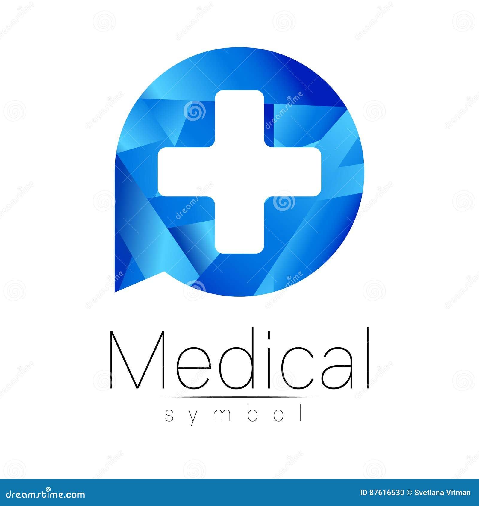 Signe Mdical De Vecteur Avec La Croix Symbole Pour Des Mdecins Site Web Carte Visite Icne Couleur Bleue Conception Lavant Projet Moderne