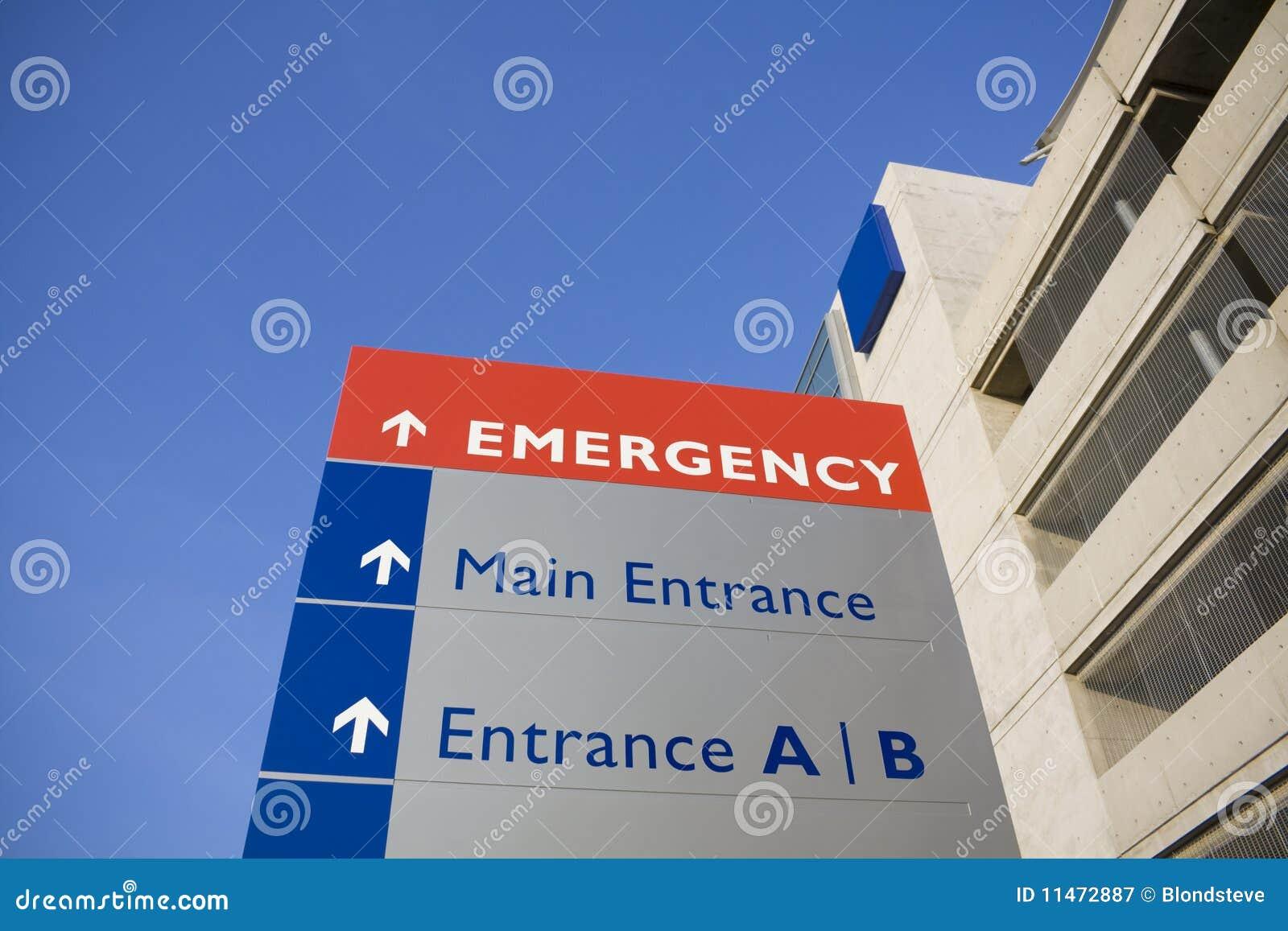 Signe moderne d hôpital et de secours