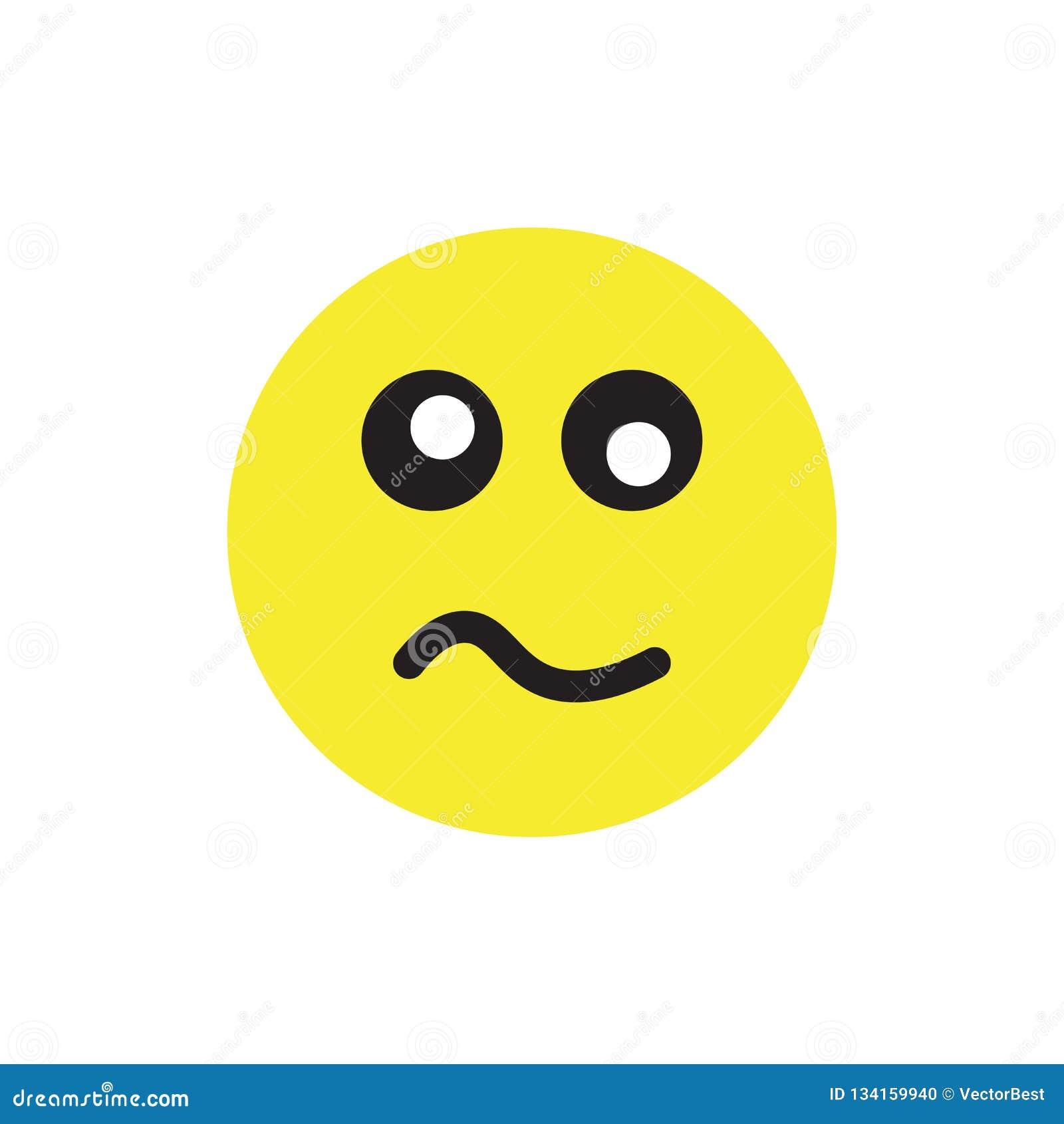 Signe nerveux et symbole de vecteur d icône d isolement sur le fond blanc
