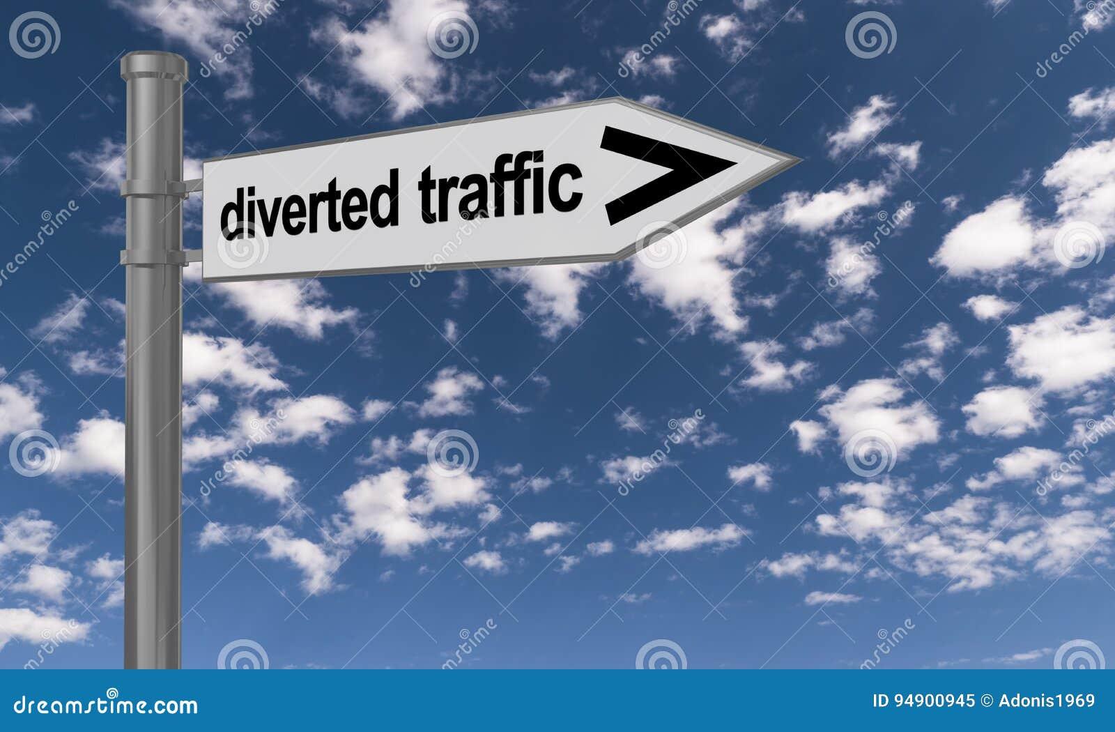 Signe pour le trafic détourné