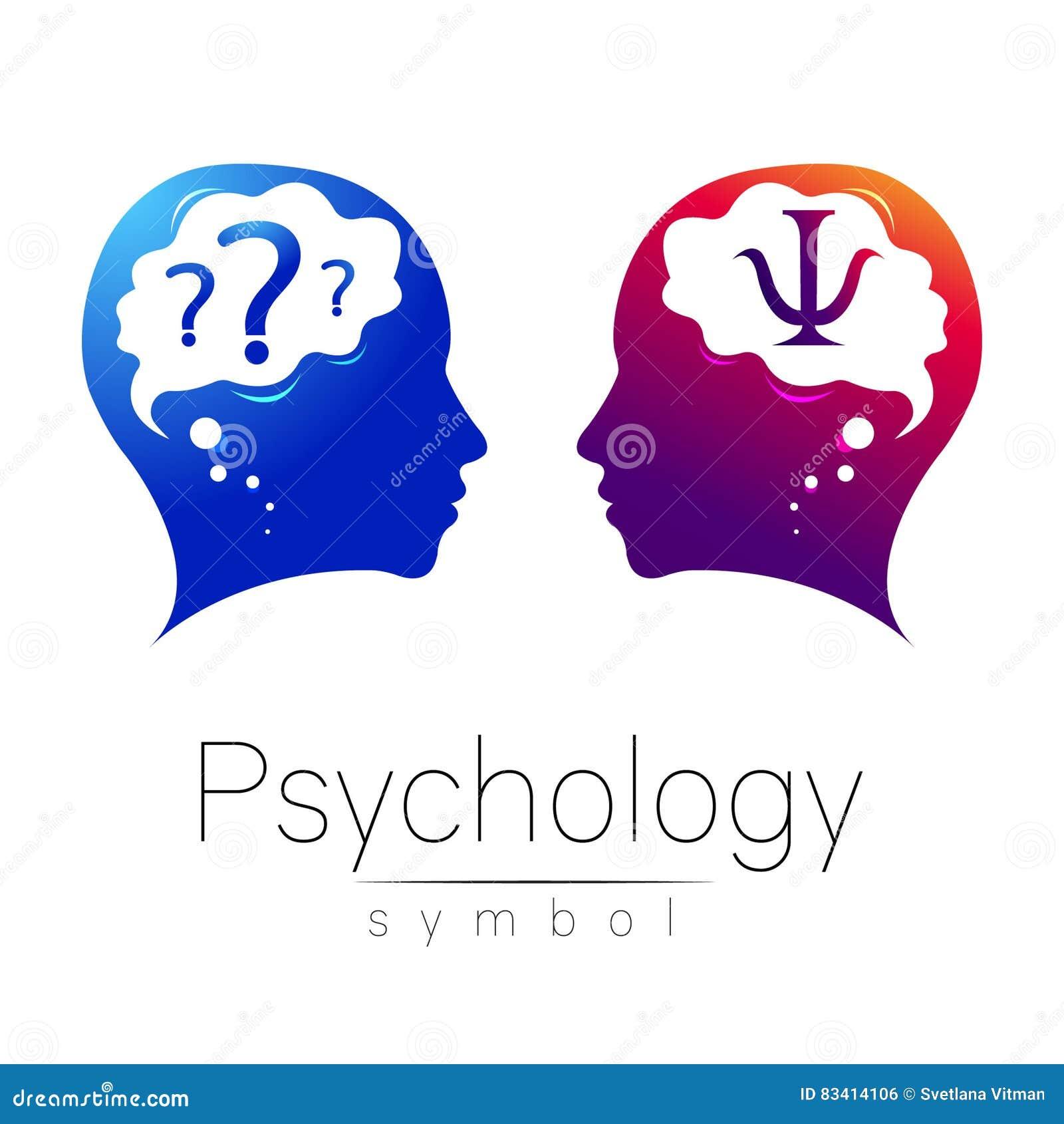 Signe principal moderne de logo de la psychologie Humain de profil Lettre livre par pouce carré Type créateur