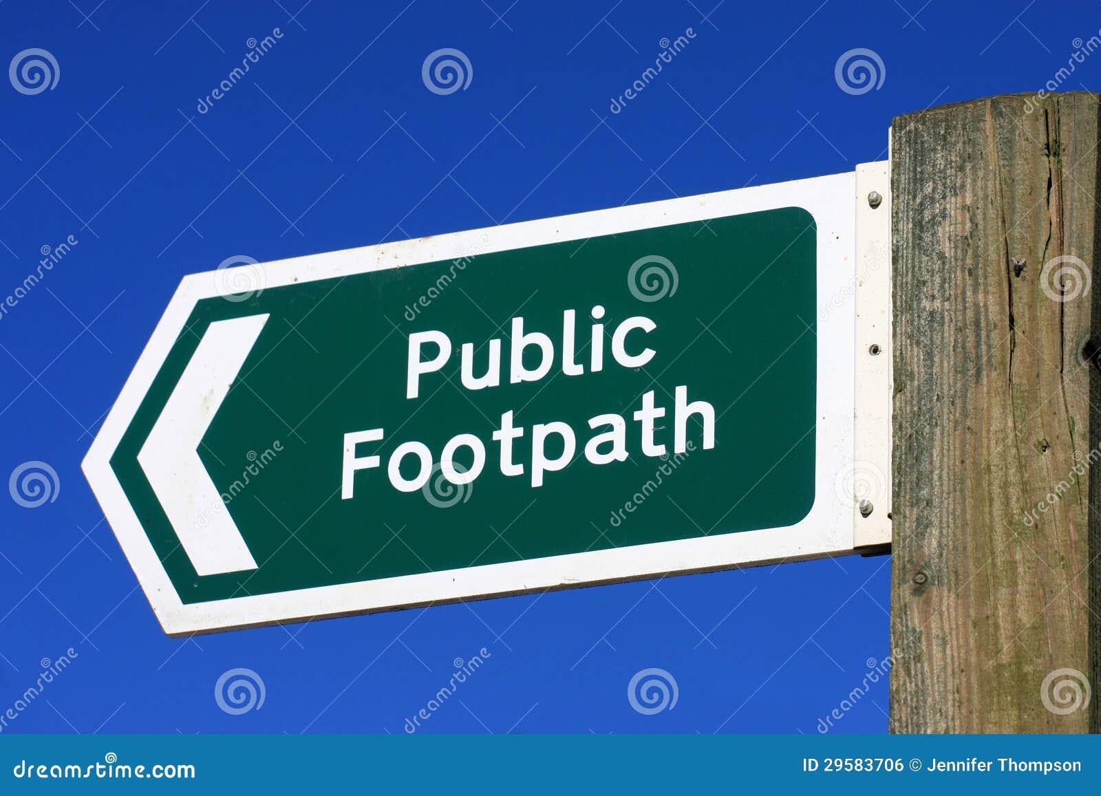 Signe public de sentier piéton