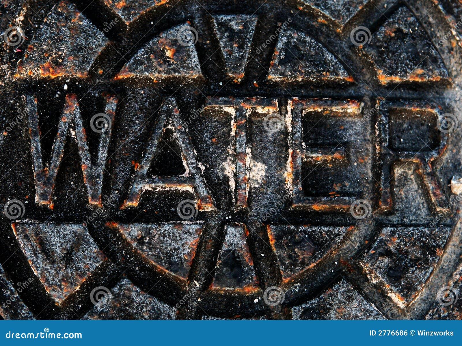 Signe rouillé de l eau