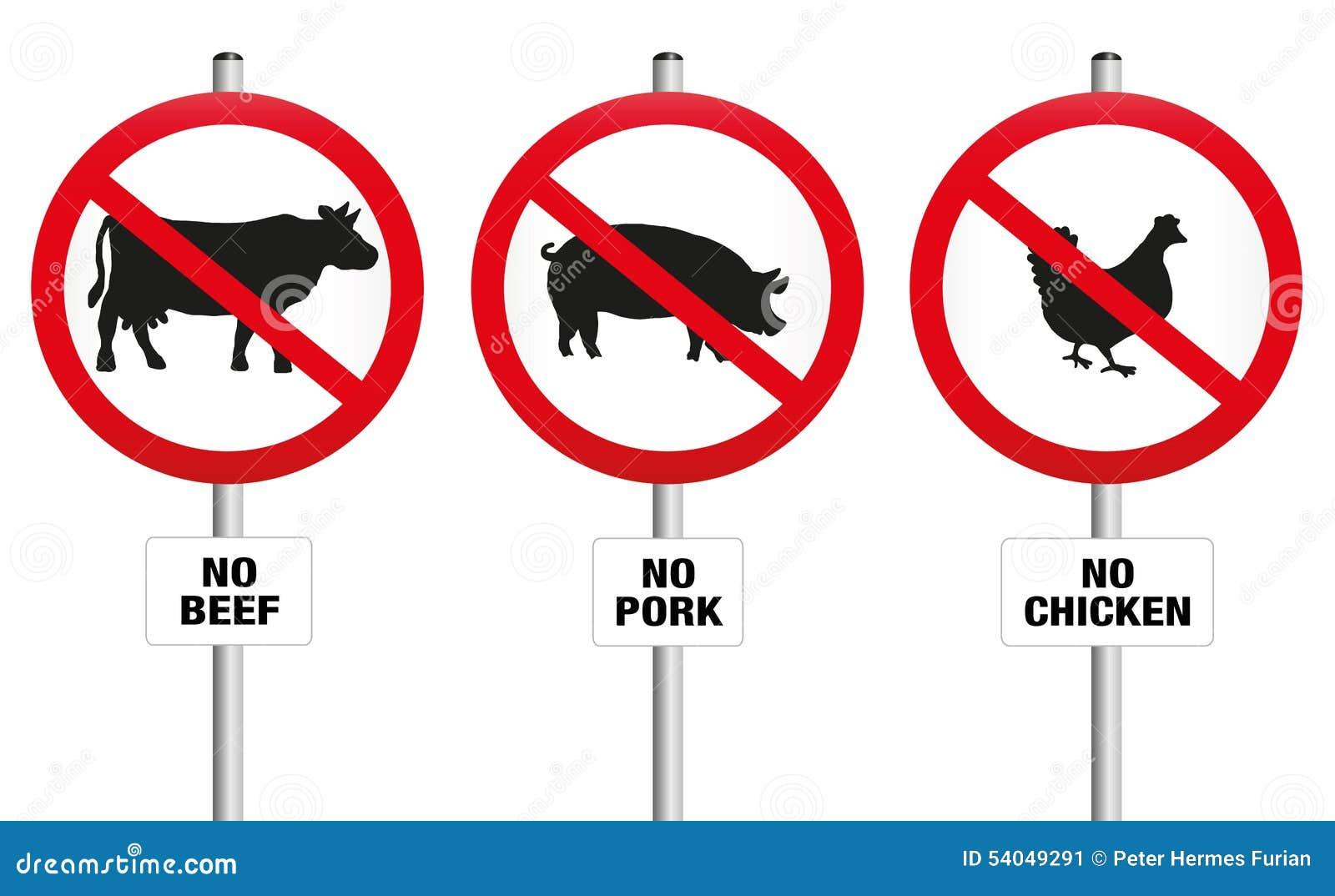 Signe sans viande v g tarien d 39 interdiction illustration for Cuisinier vegan