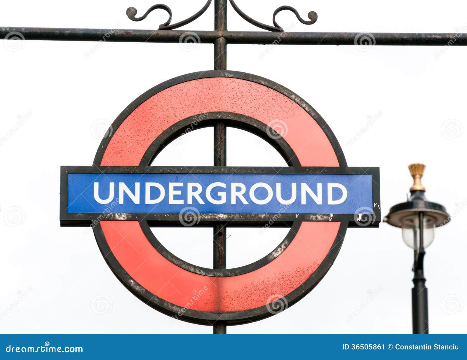 Signe souterrain de souterrain de Londres