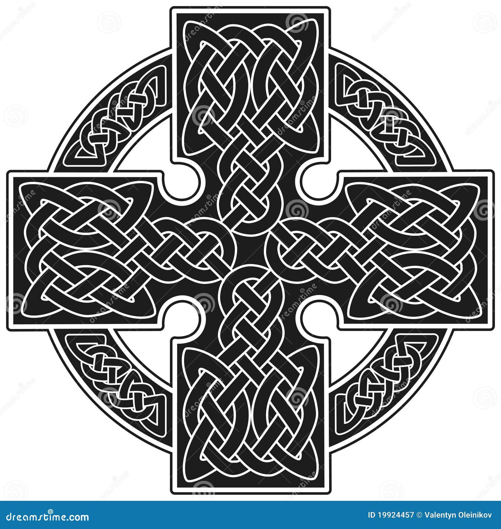 signe traditionnel de croix celtique de vecteur. Black Bedroom Furniture Sets. Home Design Ideas