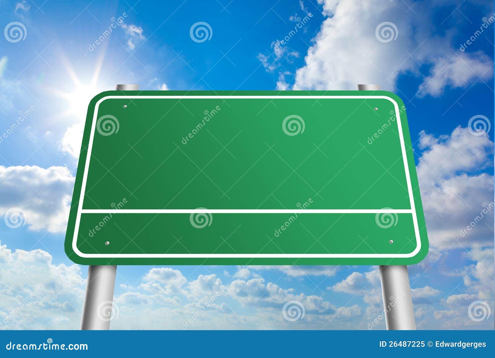 Signe vide de route