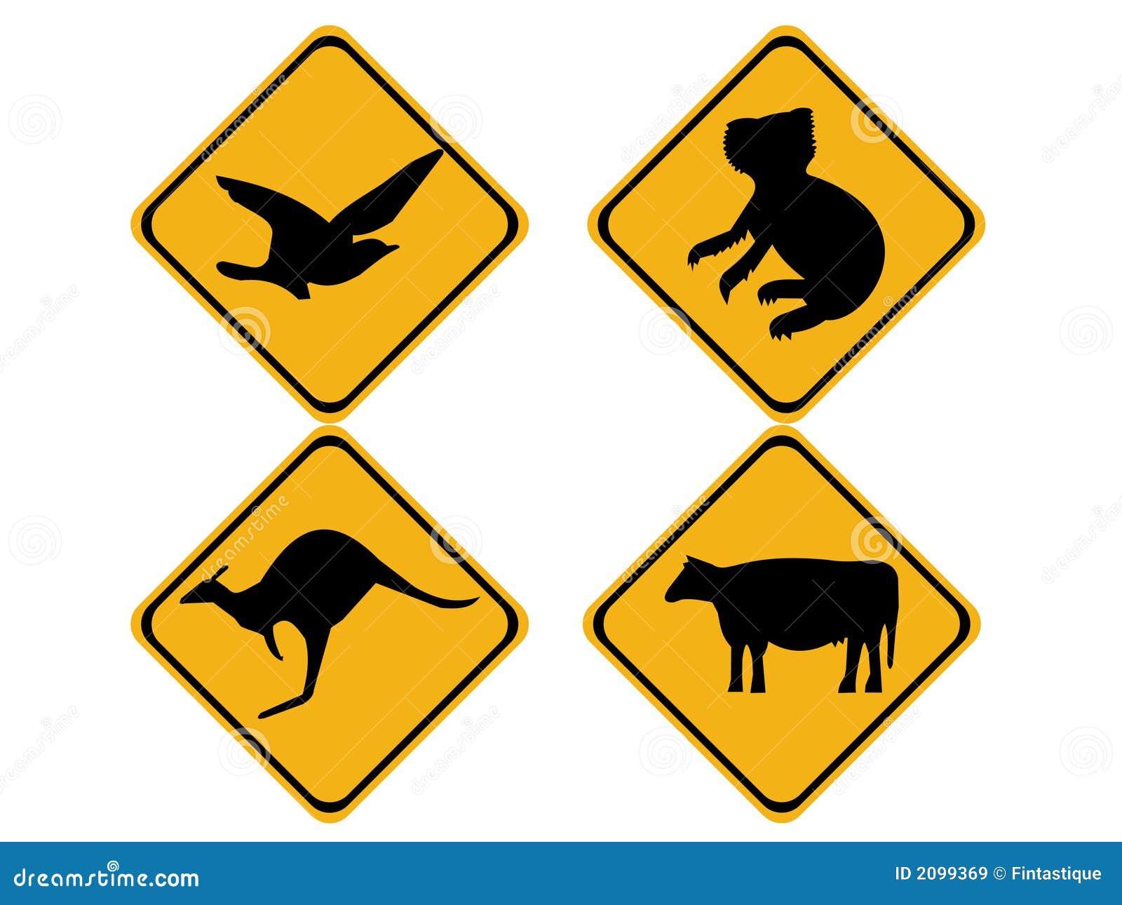 Signes australiens de faune