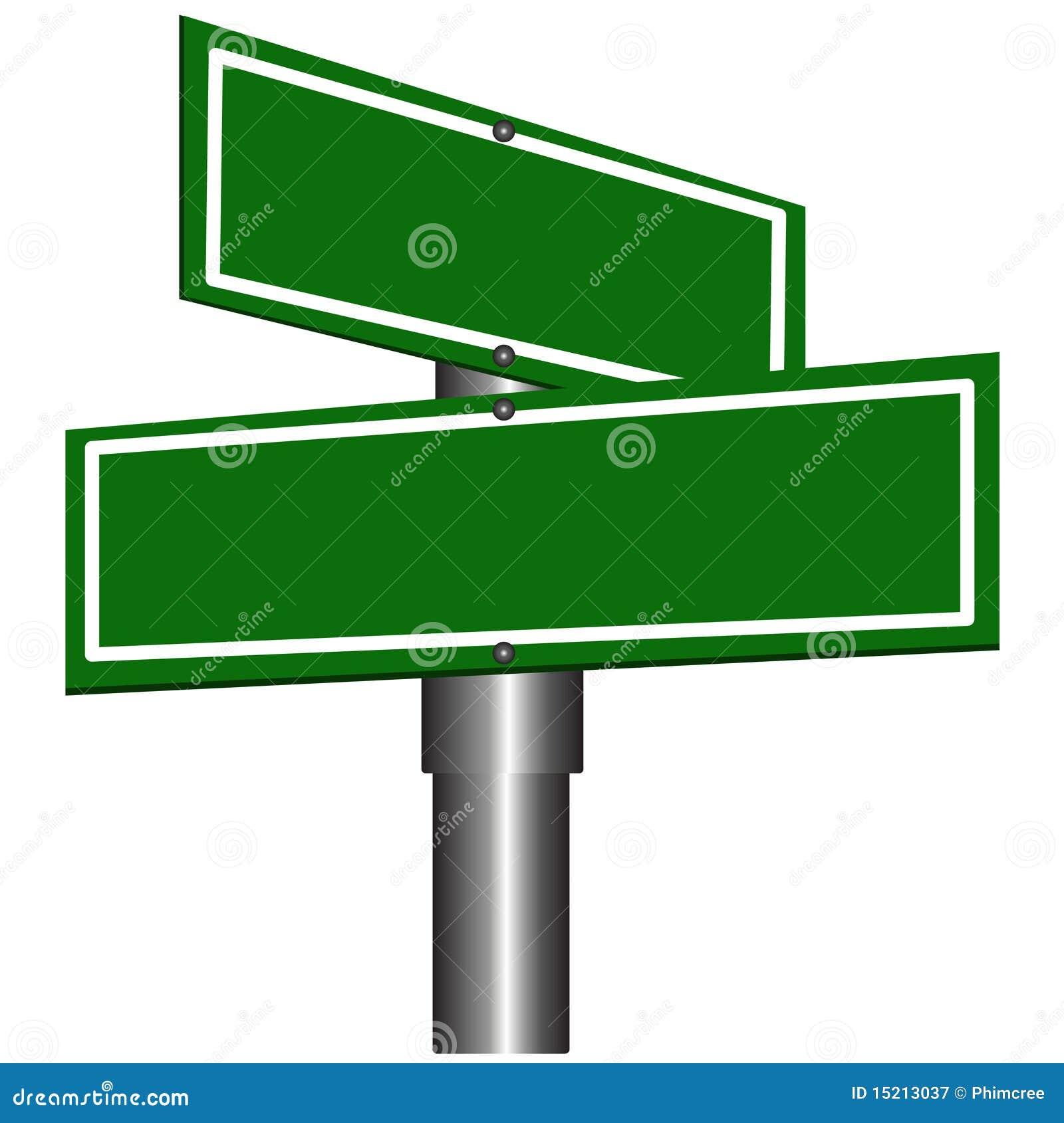 Signes de rue blanc