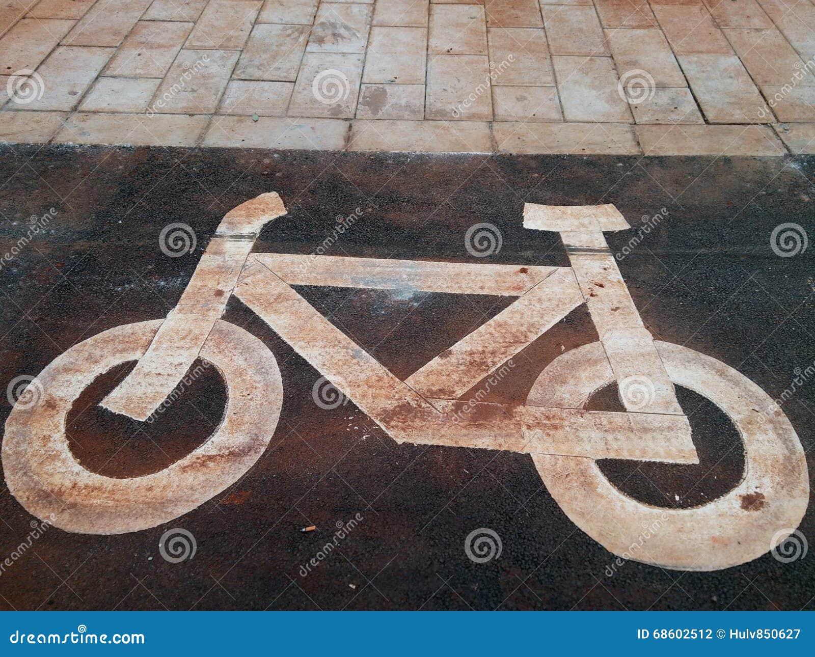 Signes de ruelle de vélo
