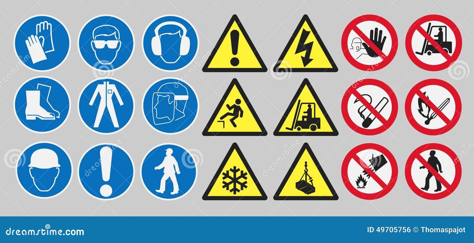 Signes de sécurité de travail