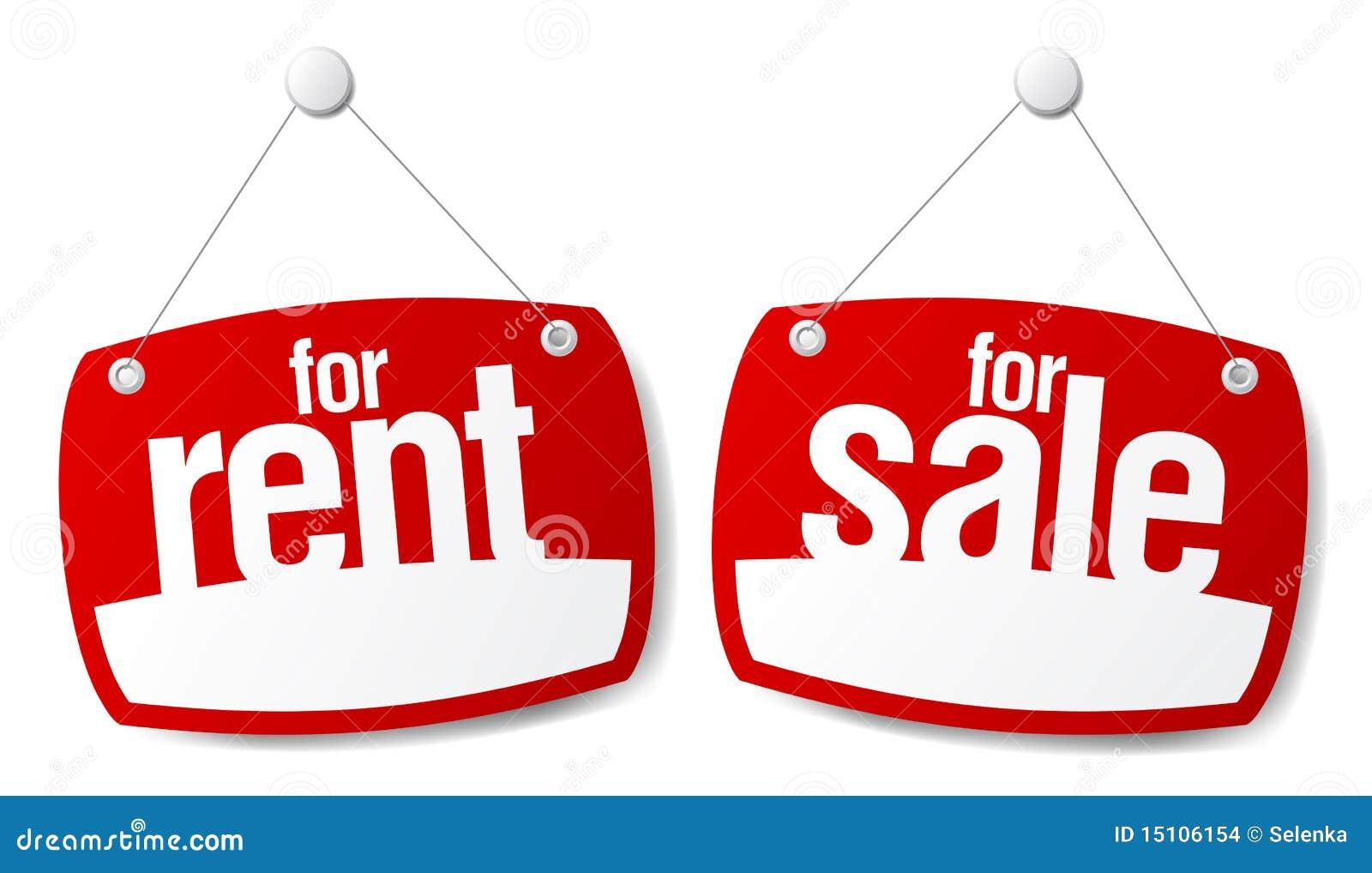 Signes de vente et de loyer