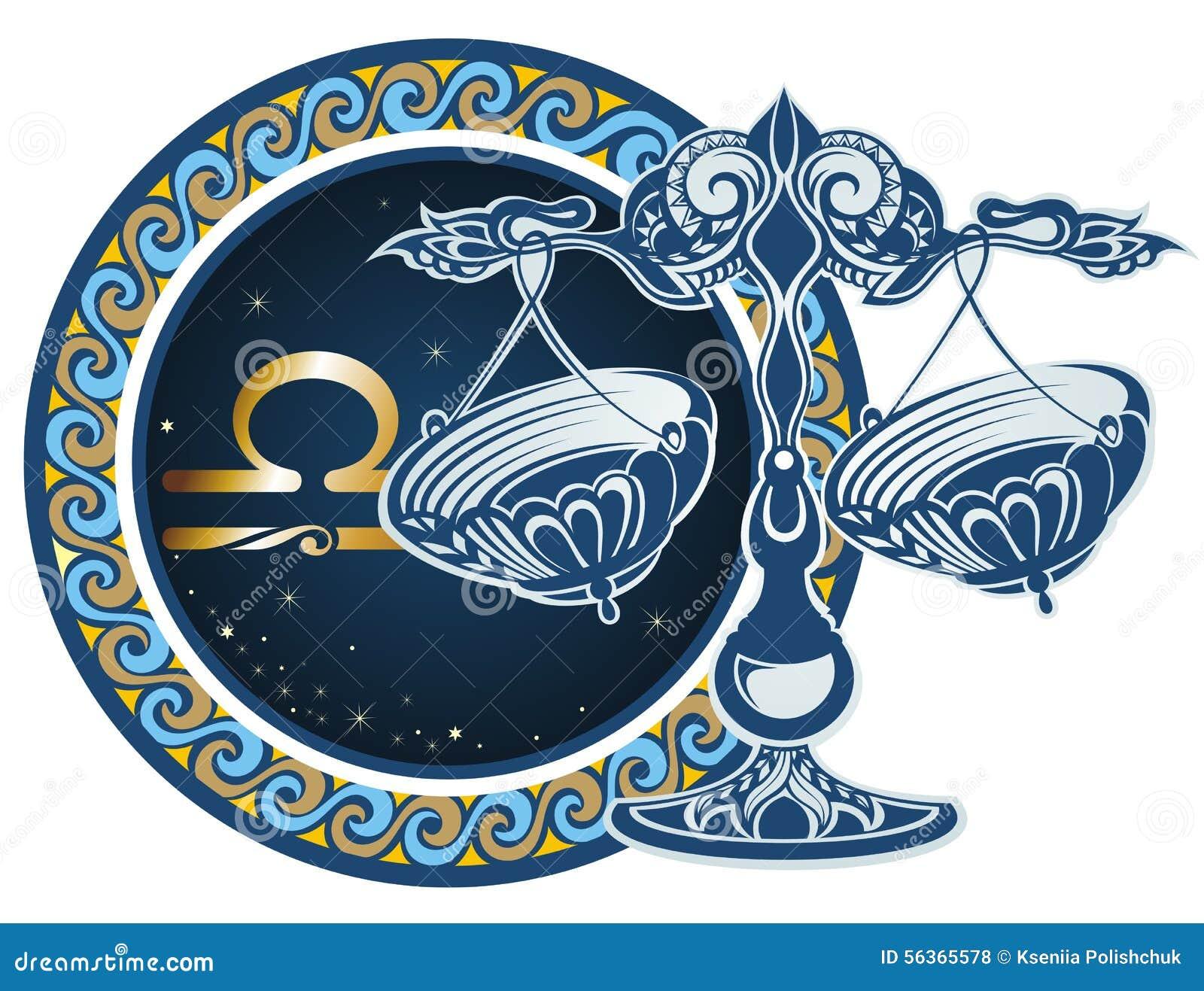 signes de zodiaque balance illustration de vecteur image 56365578. Black Bedroom Furniture Sets. Home Design Ideas