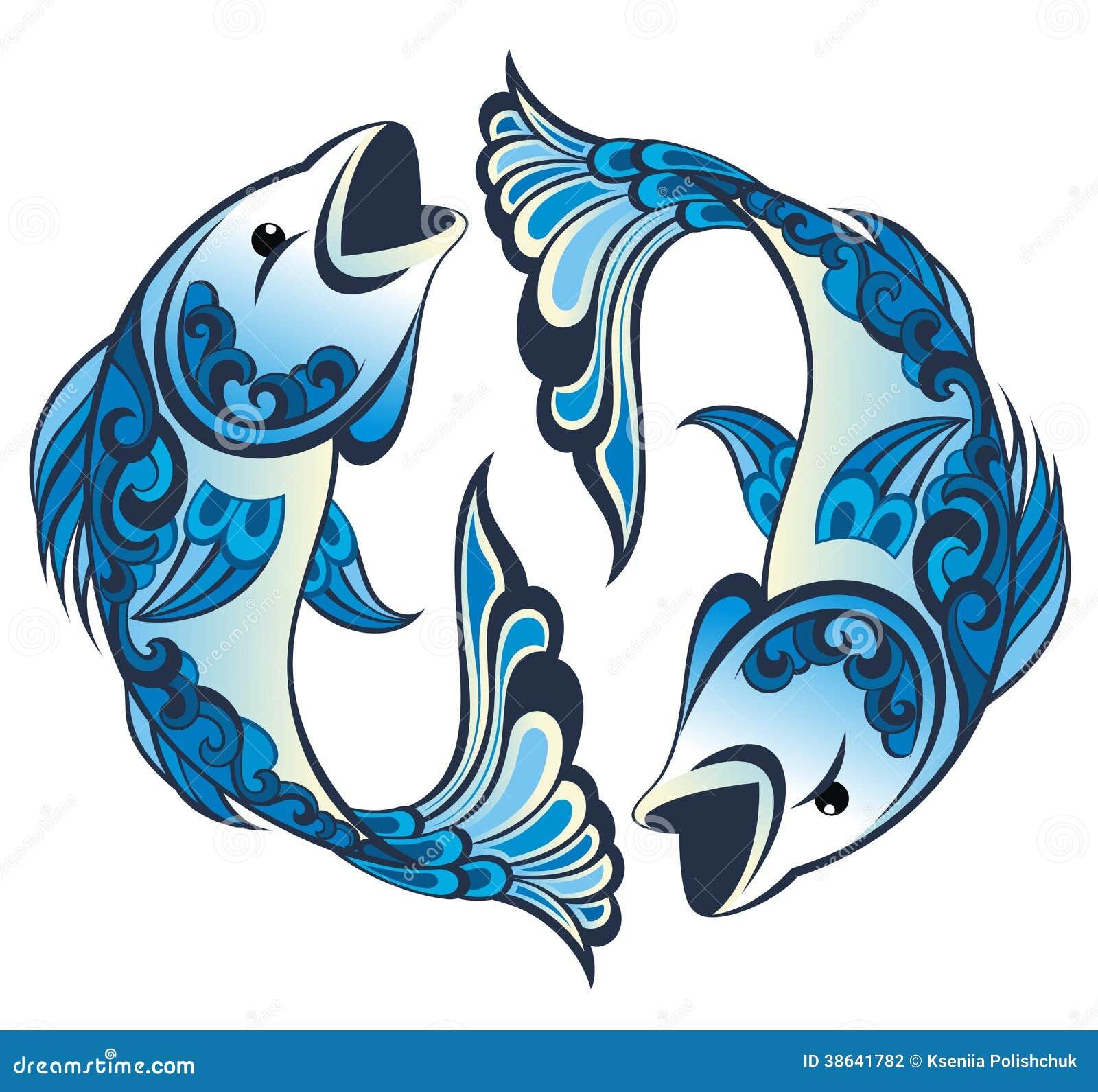signes de zodiaque poissons illustration de vecteur illustration du horoscope artistique. Black Bedroom Furniture Sets. Home Design Ideas