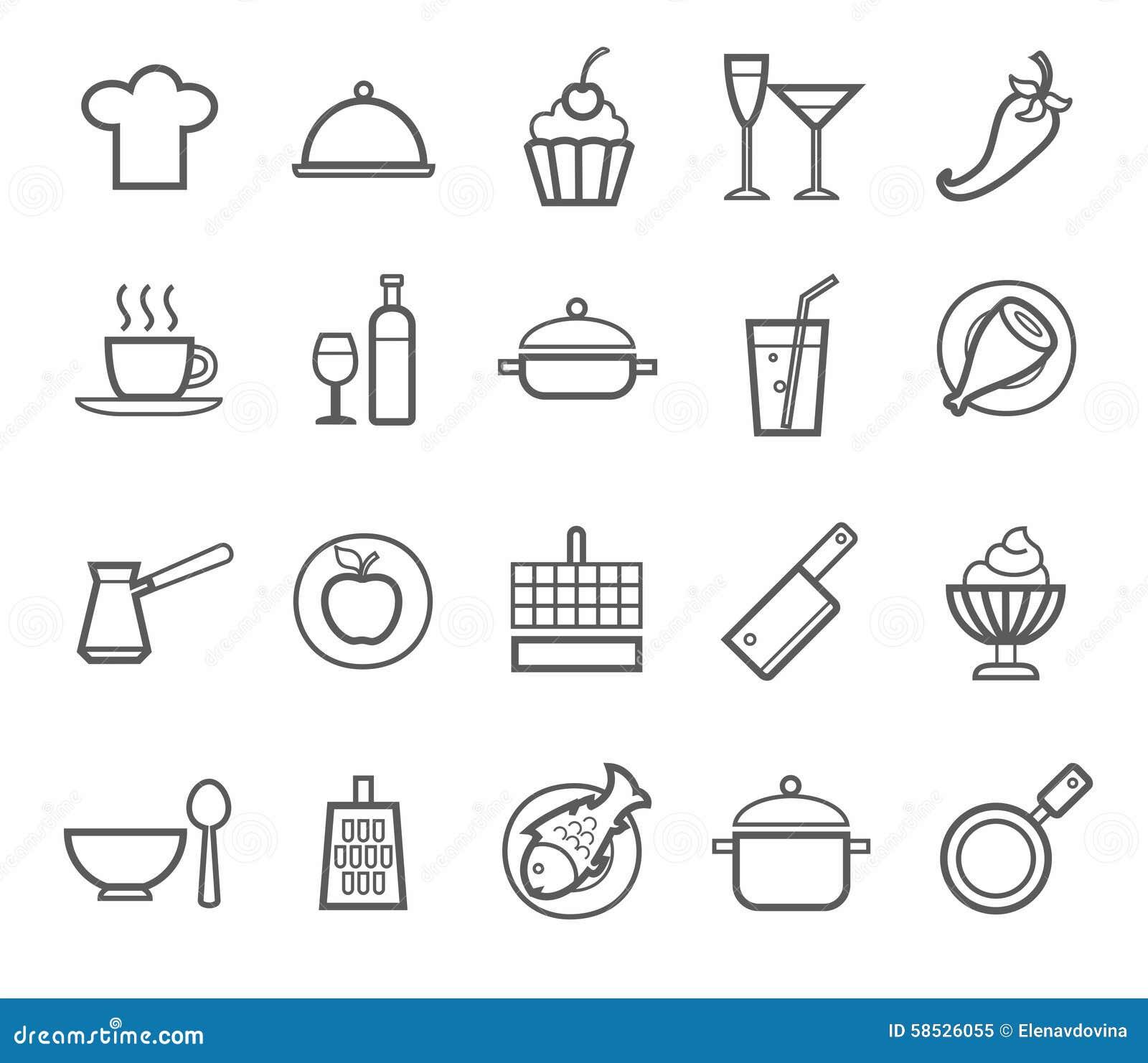 Signes ic nes cuisine restaurant caf nourriture for Ustensiles pour restaurant