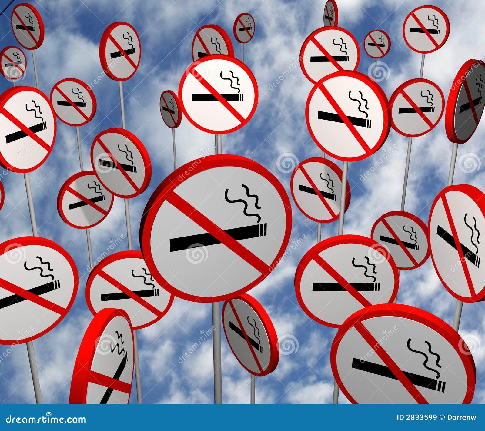 Images de signe non fumeur