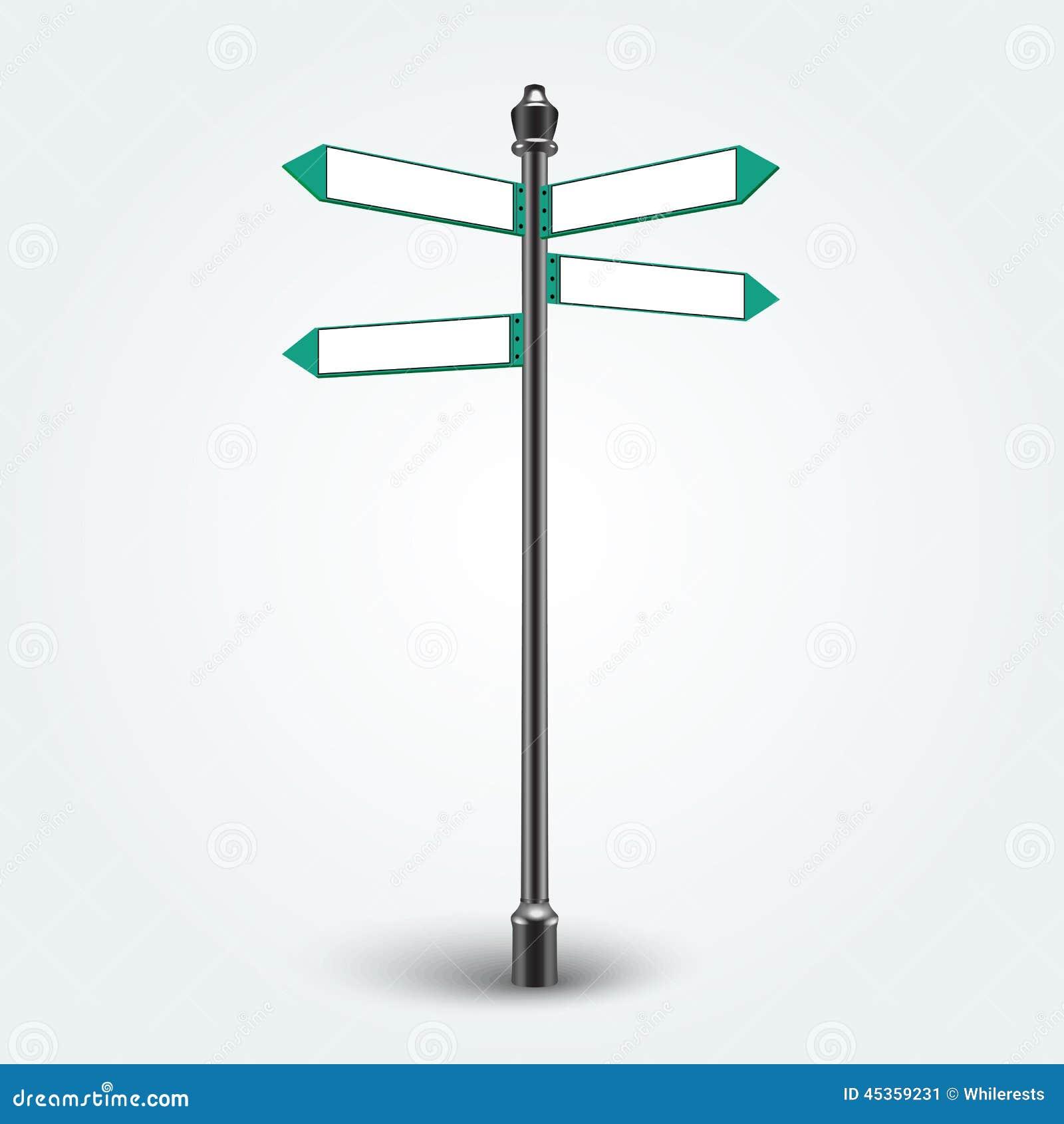 Signes vides de flèches de direction pour l espace de copie