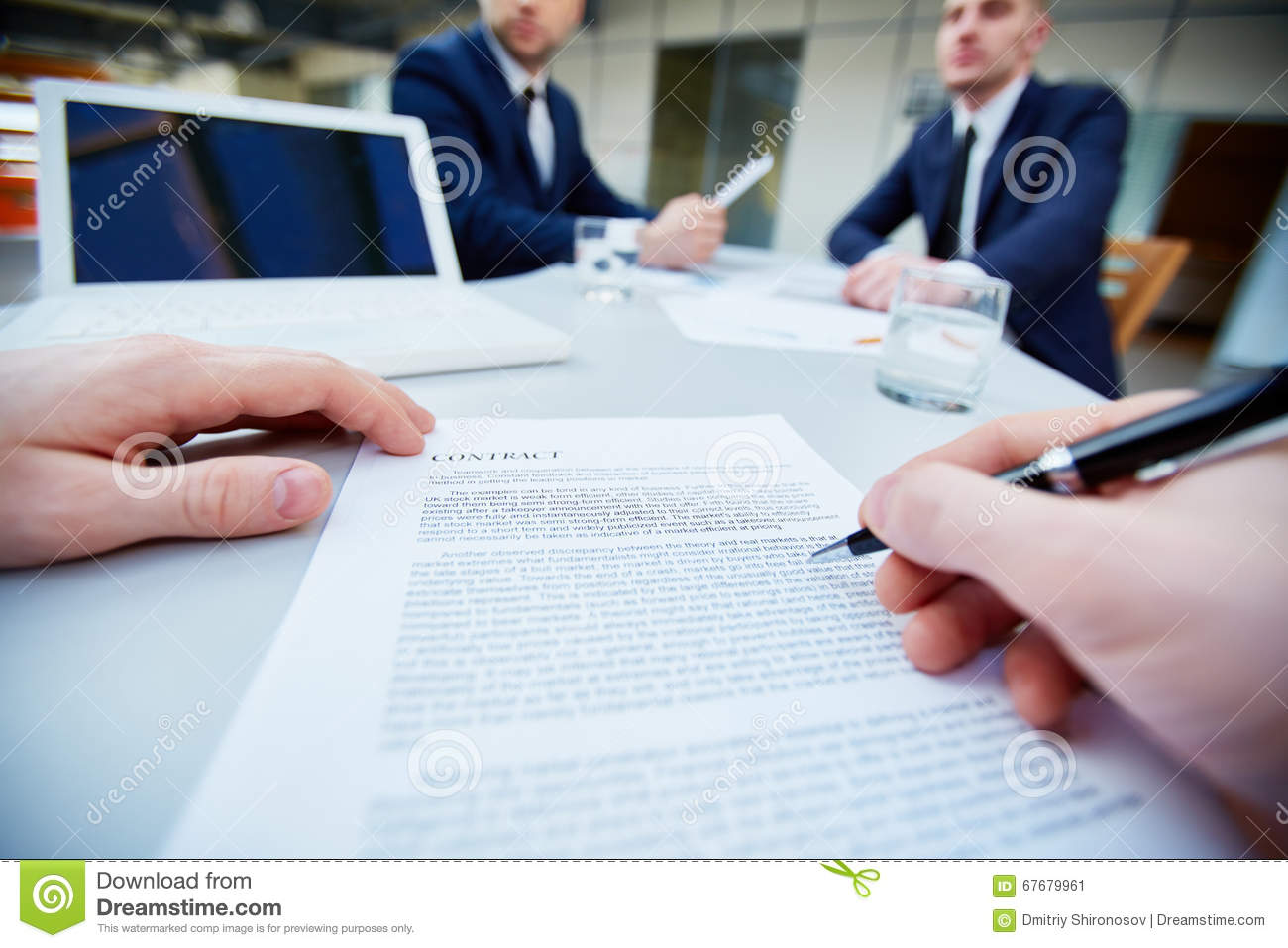 signing contract stock photo image 67679961