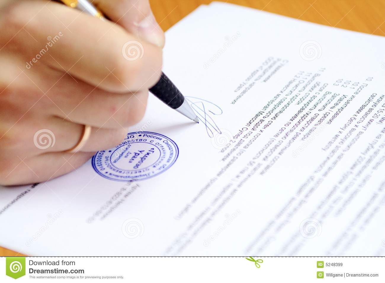 signing document royalty free stock images