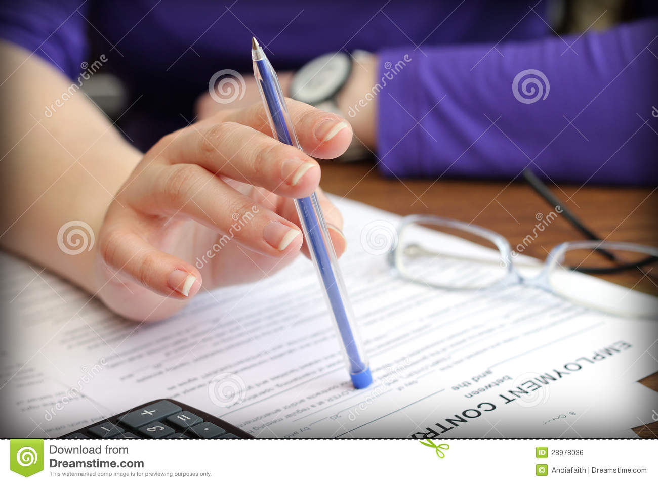 the signing of the employment contract royalty free stock image image 28978036