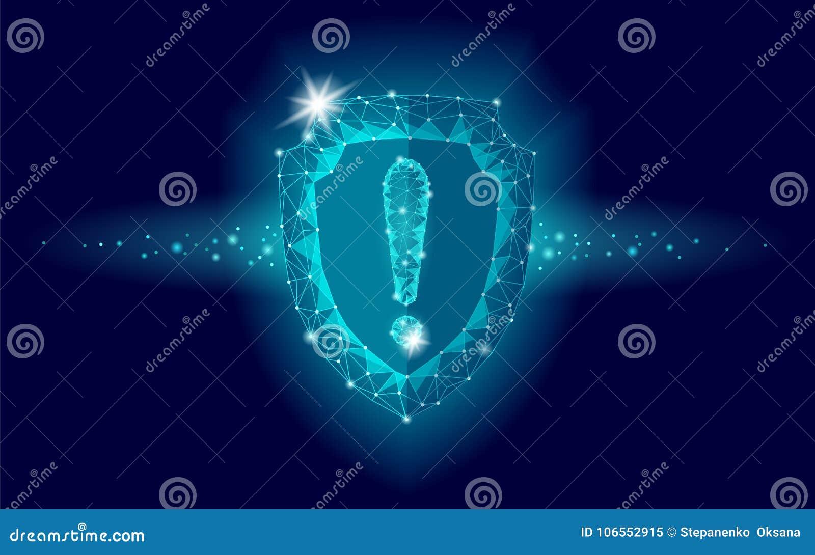 Signo De Exclamación Polivinílico Bajo De La Seguridad Del Escudo ...