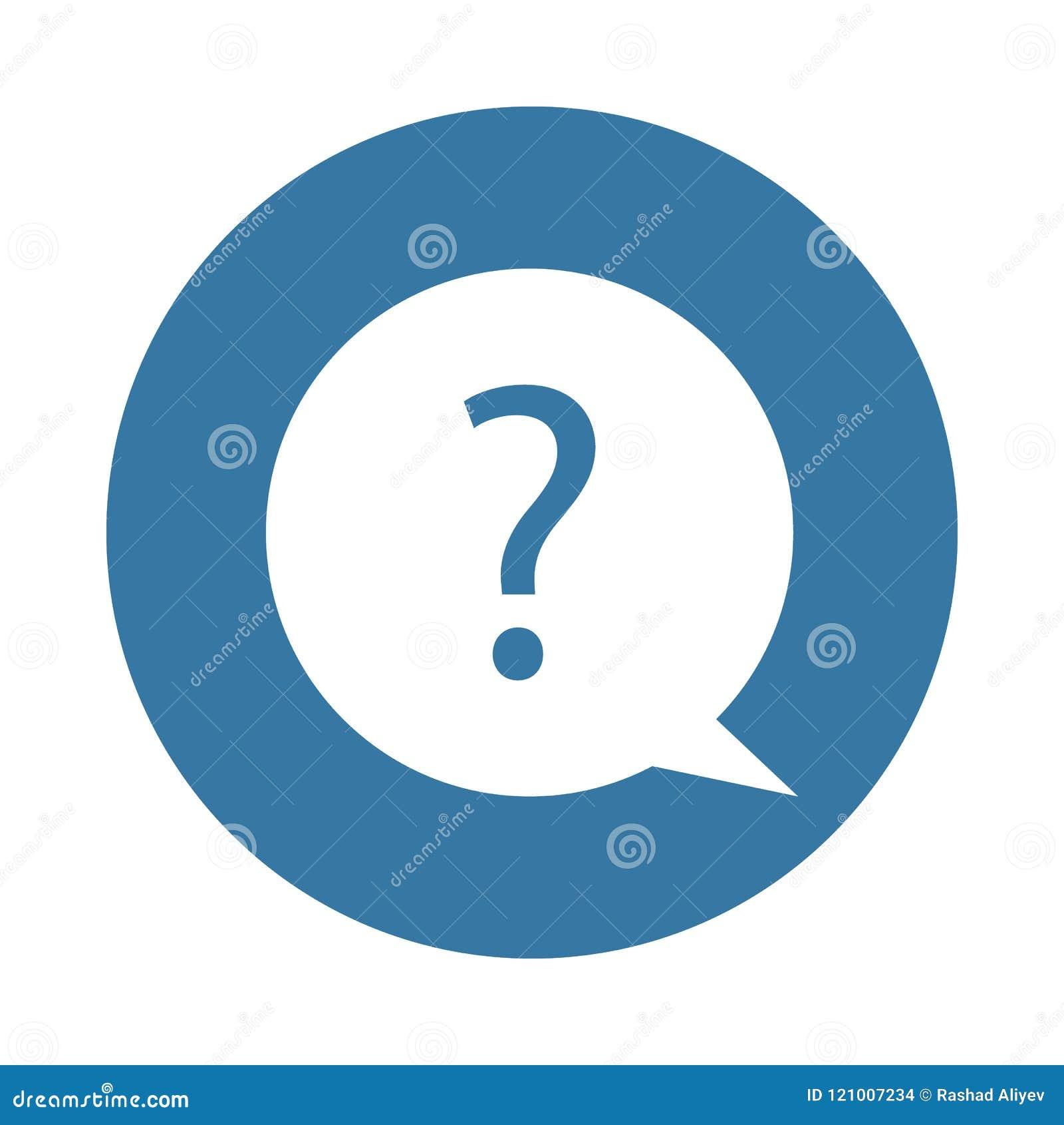 Signo de interrogación como ondulación del agua Elemento del icono del web en estilo de la insignia